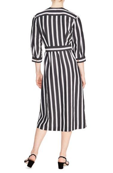 b2e6e501dee3 sandro Carl Button Front Stripe Midi Dress