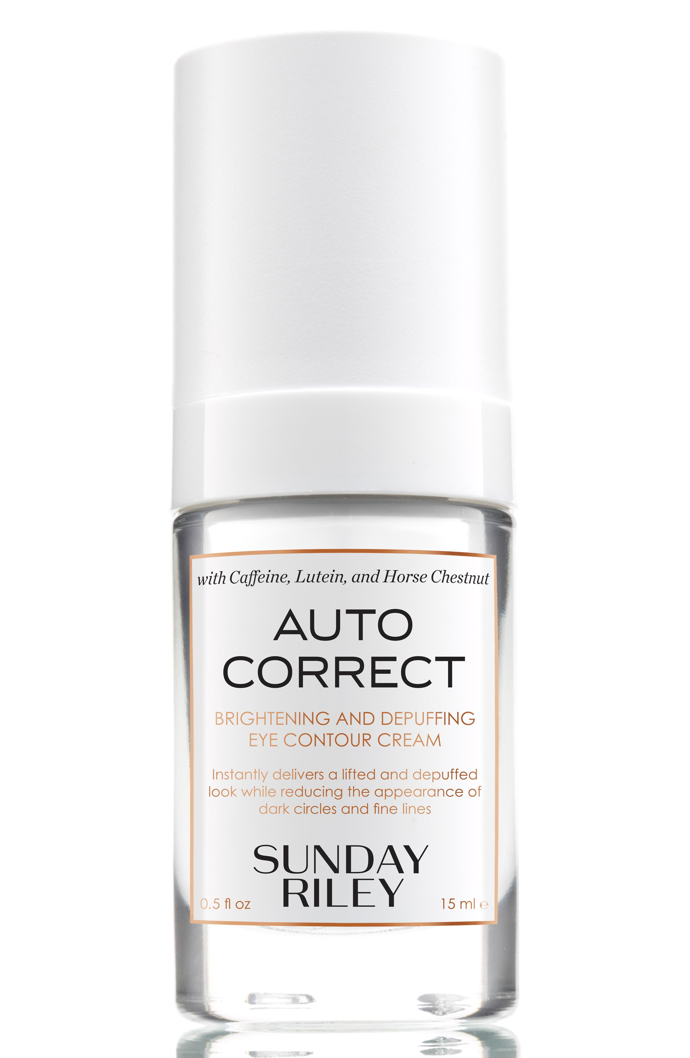 SPACE.NK.apothecary Sunday Riley Autocorrect Brightening and Depuffing Eye Contour Cream,                         Main,                         color, NO COLOR