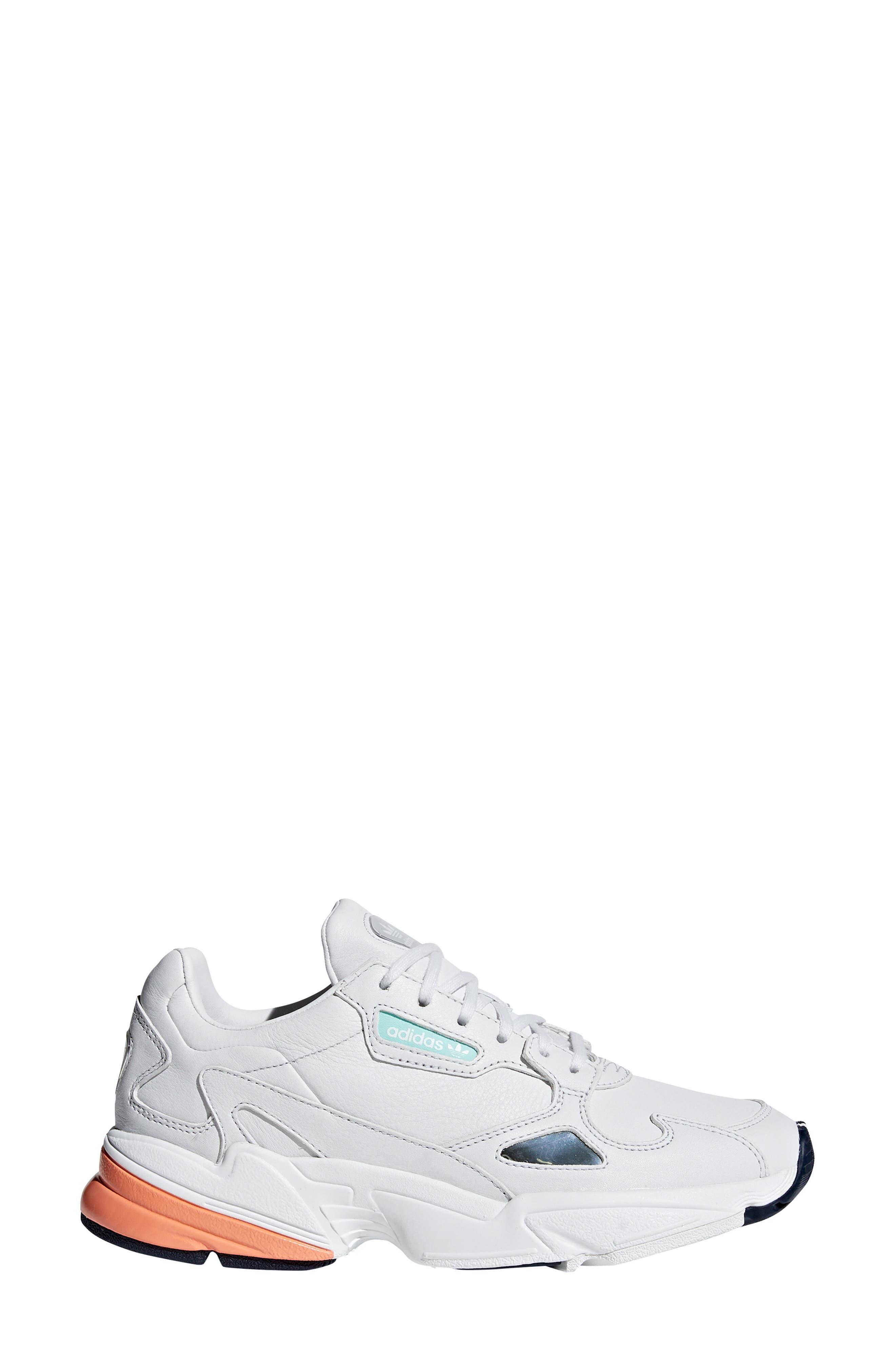 Falcon Sneaker,                             Alternate thumbnail 6, color,                             CRYSTAL WHITE/ EASY ORANGE