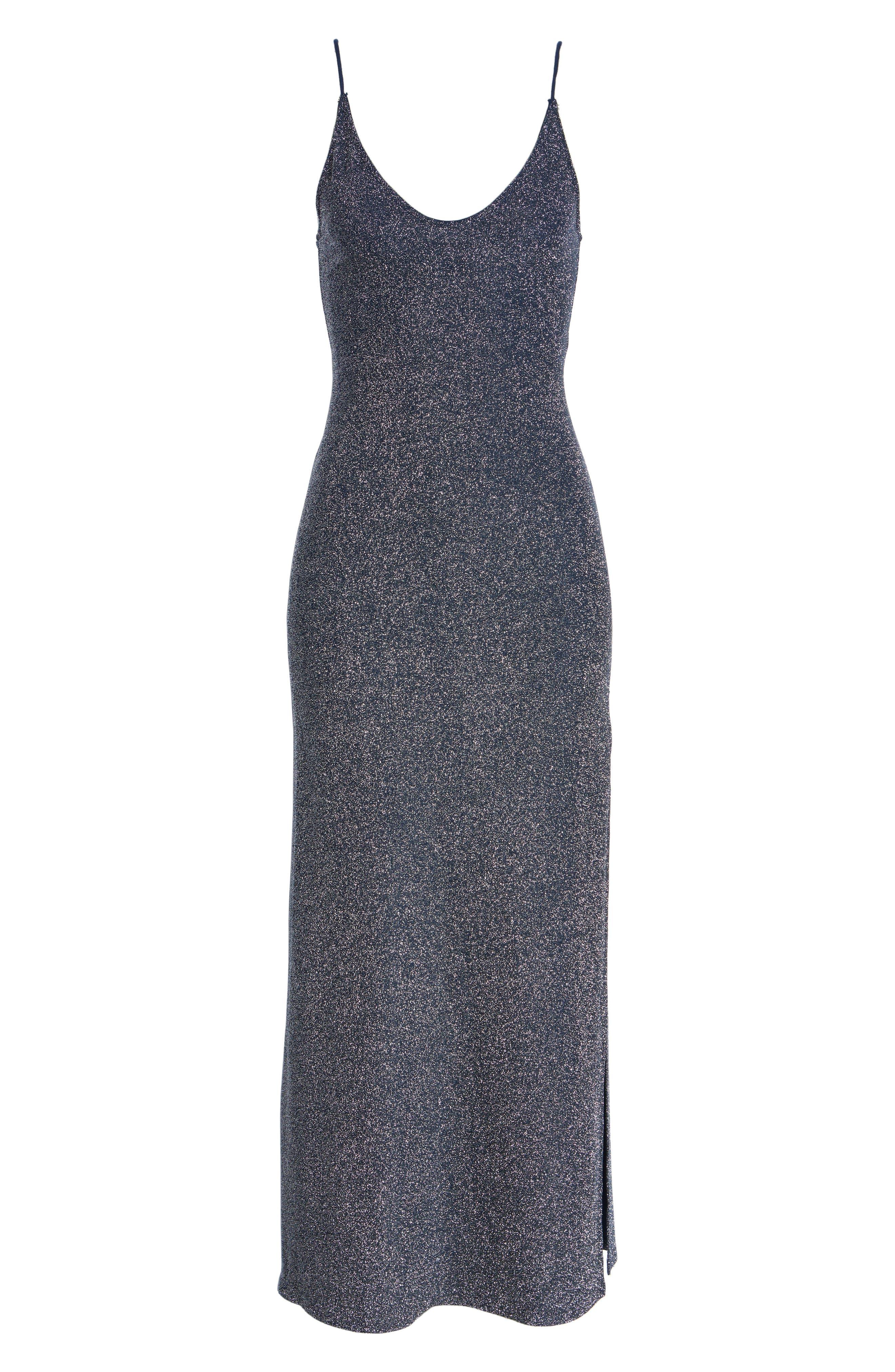 Lola Glitter Maxi Dress,                             Alternate thumbnail 8, color,                             020