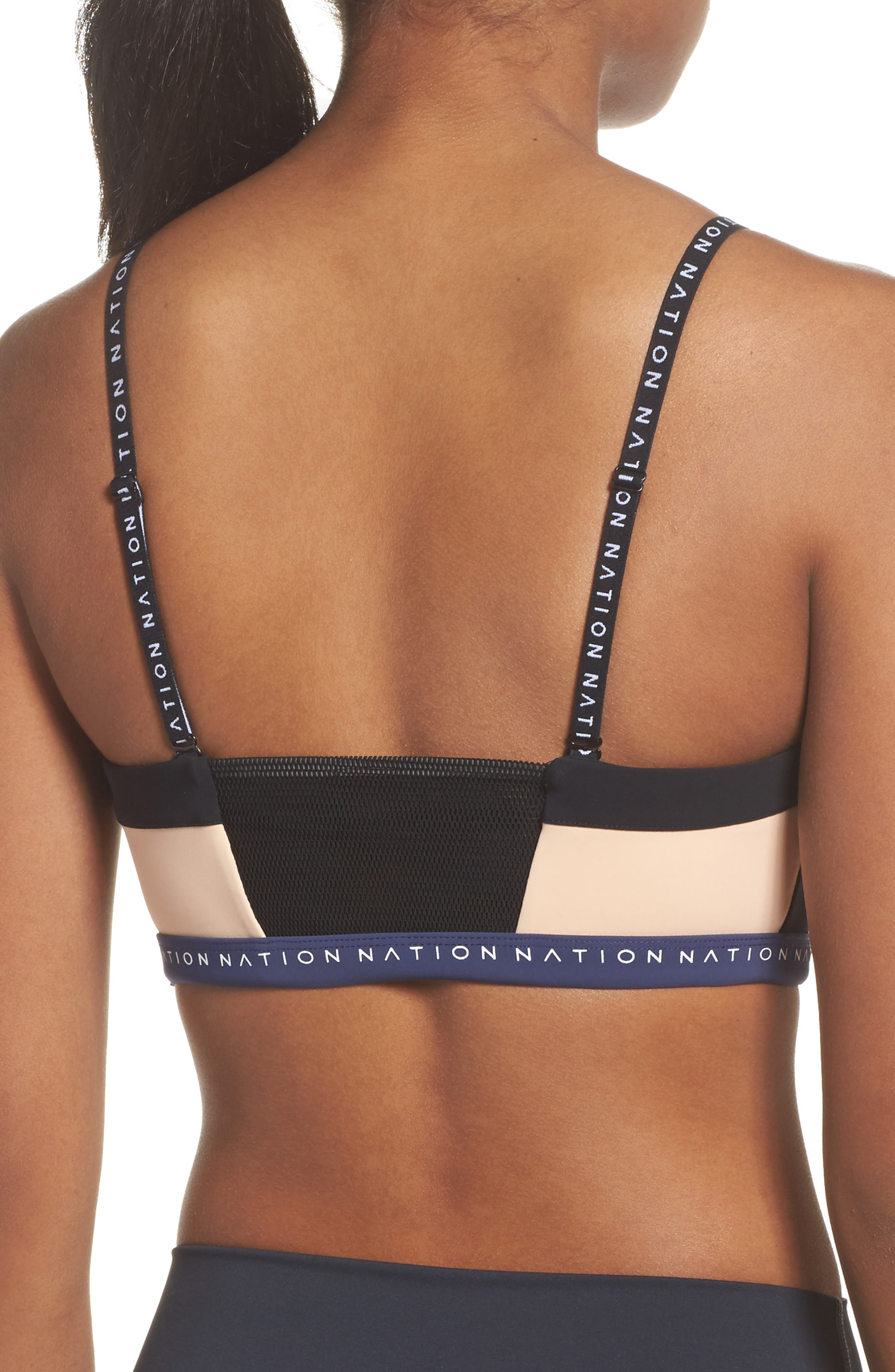 Field of Dreams Sports Bra,                             Alternate thumbnail 3, color,                             001