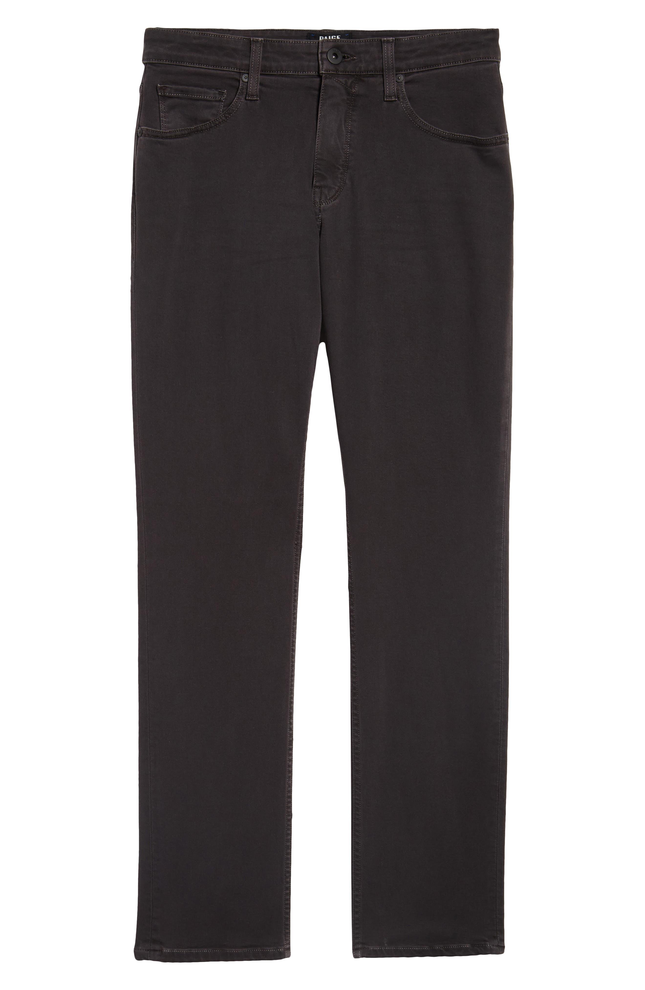 Transcend - Federal Slim Straight Leg Jeans,                             Alternate thumbnail 6, color,                             001