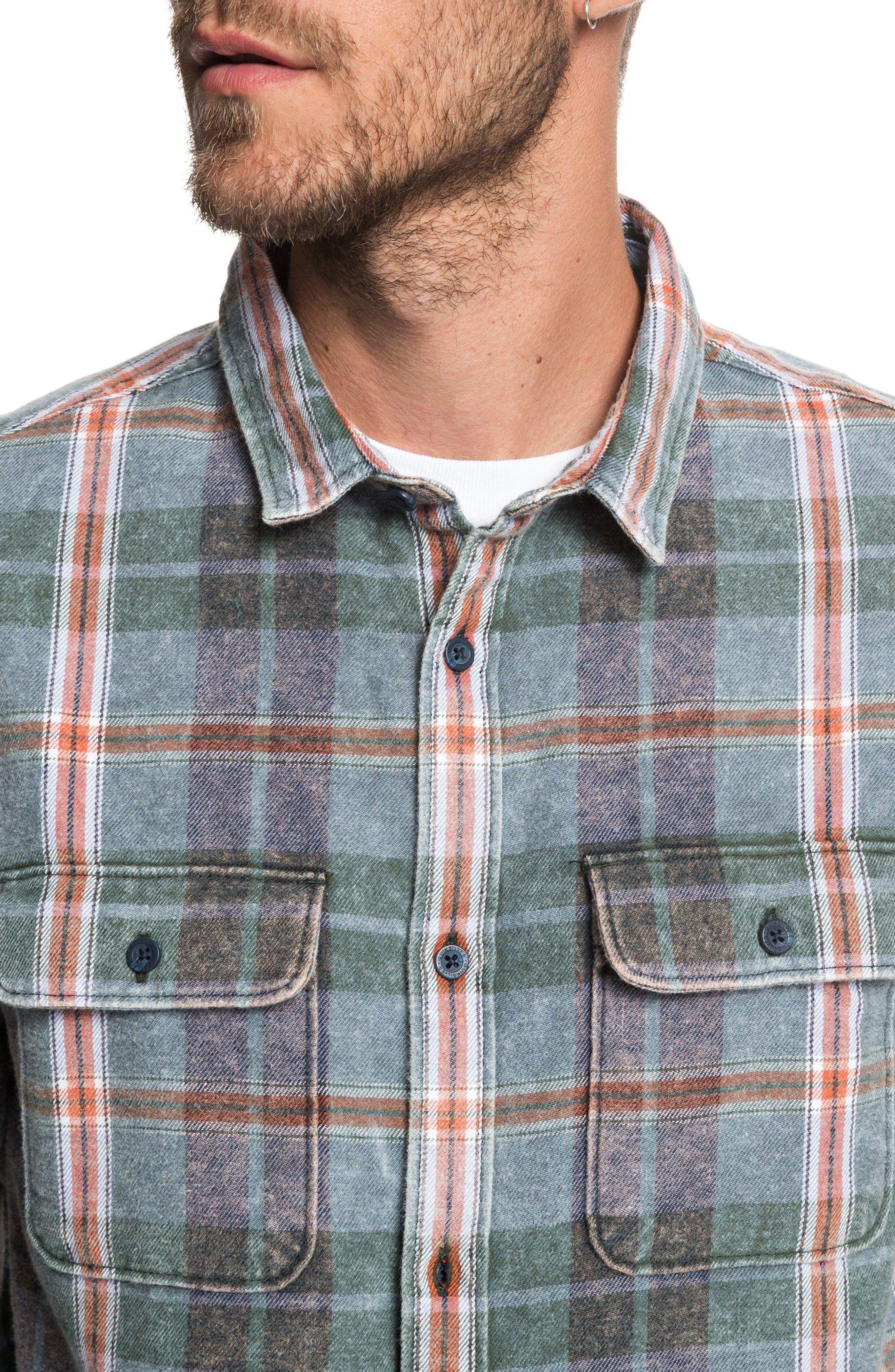 Super Tang Flannel Shirt,                             Alternate thumbnail 2, color,                             STONE WASH TANG