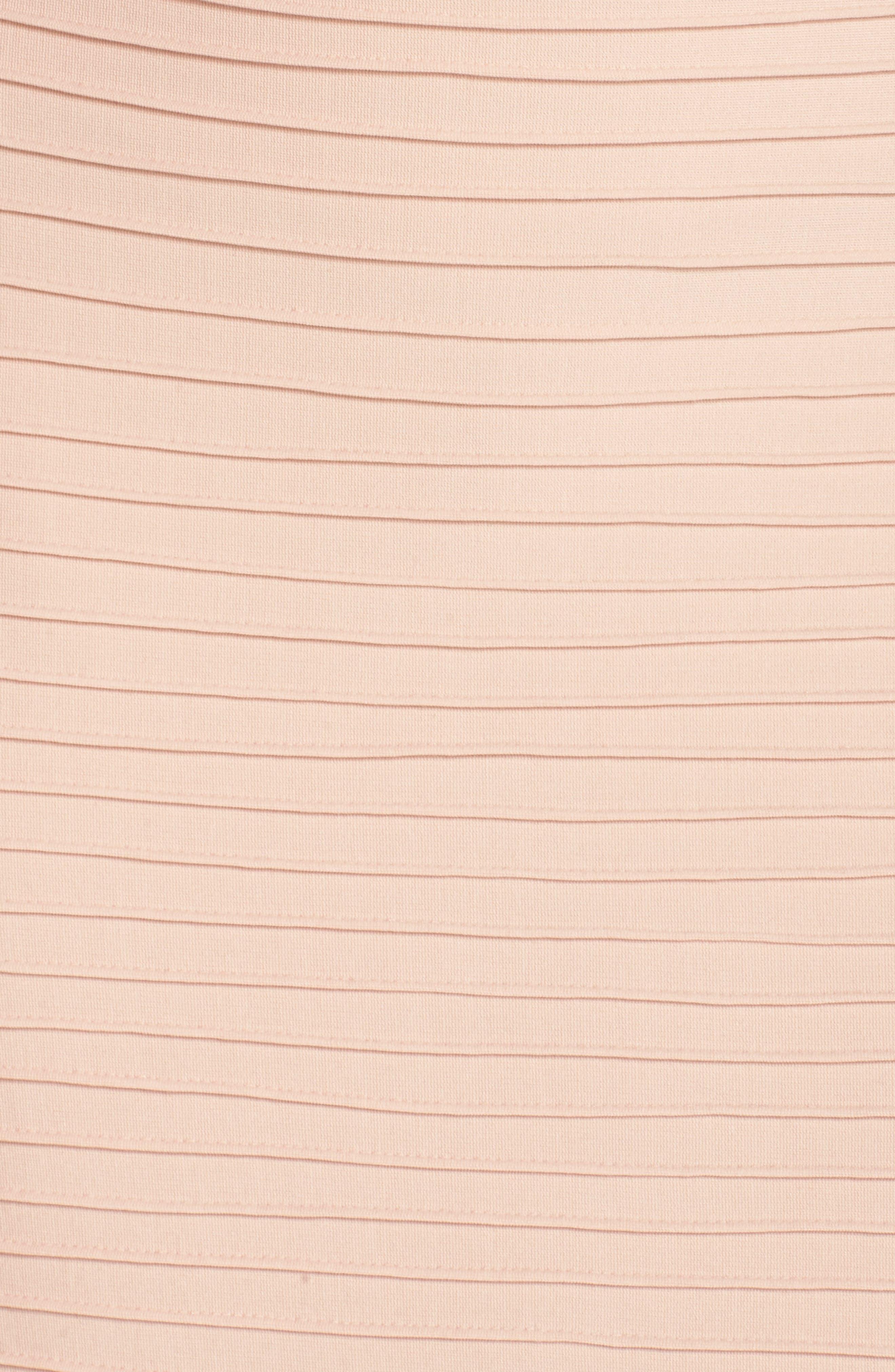 Mesh Inset Pintuck Dress,                             Alternate thumbnail 5, color,                             PETAL/ BLOOM