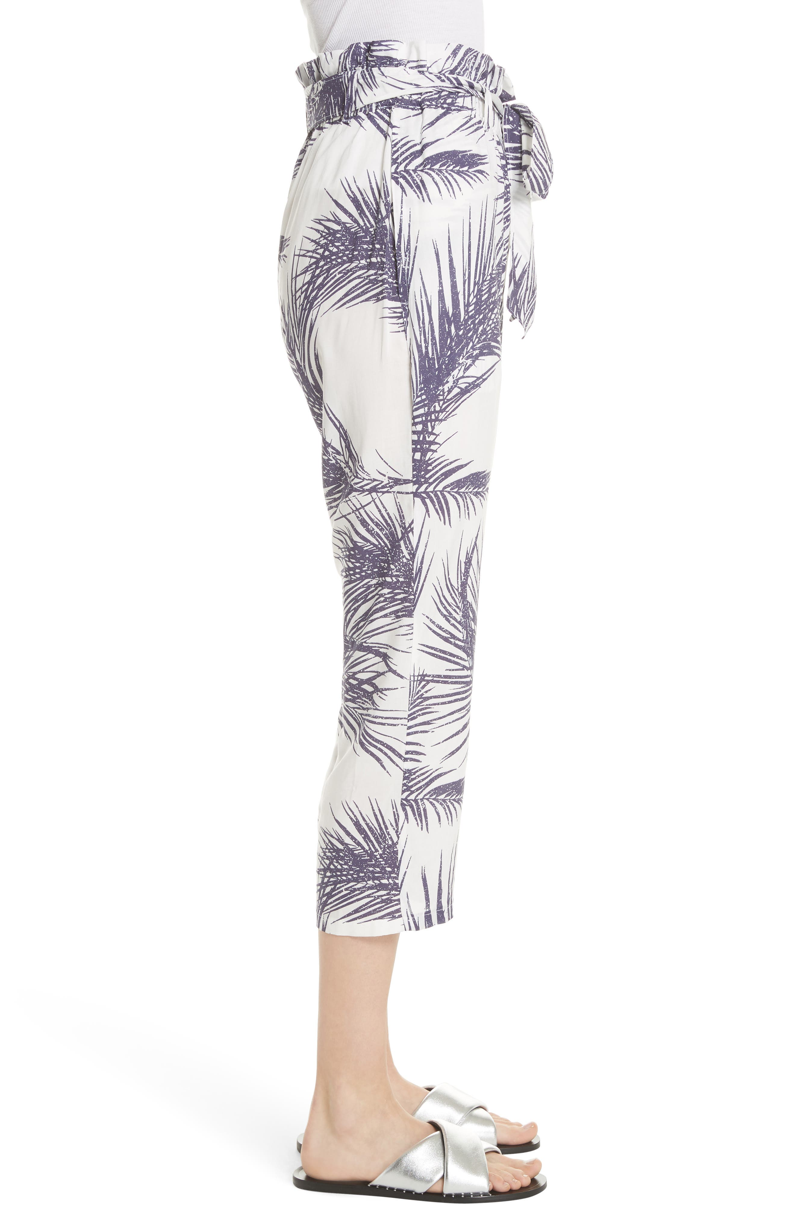 Surf Print Paperbag Pants,                             Alternate thumbnail 3, color,