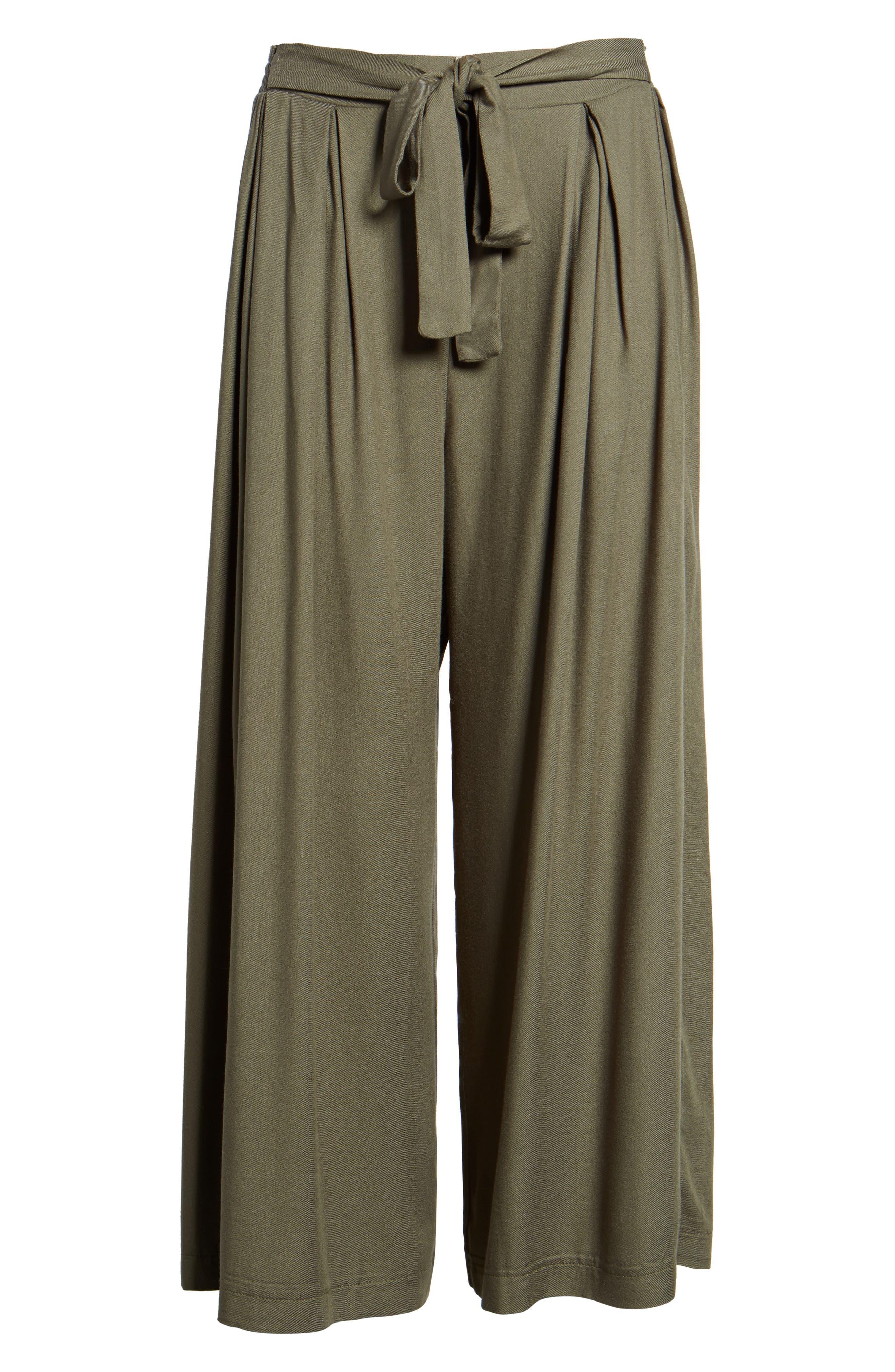 Tie Waist Wide Leg Pants,                             Alternate thumbnail 6, color,                             311