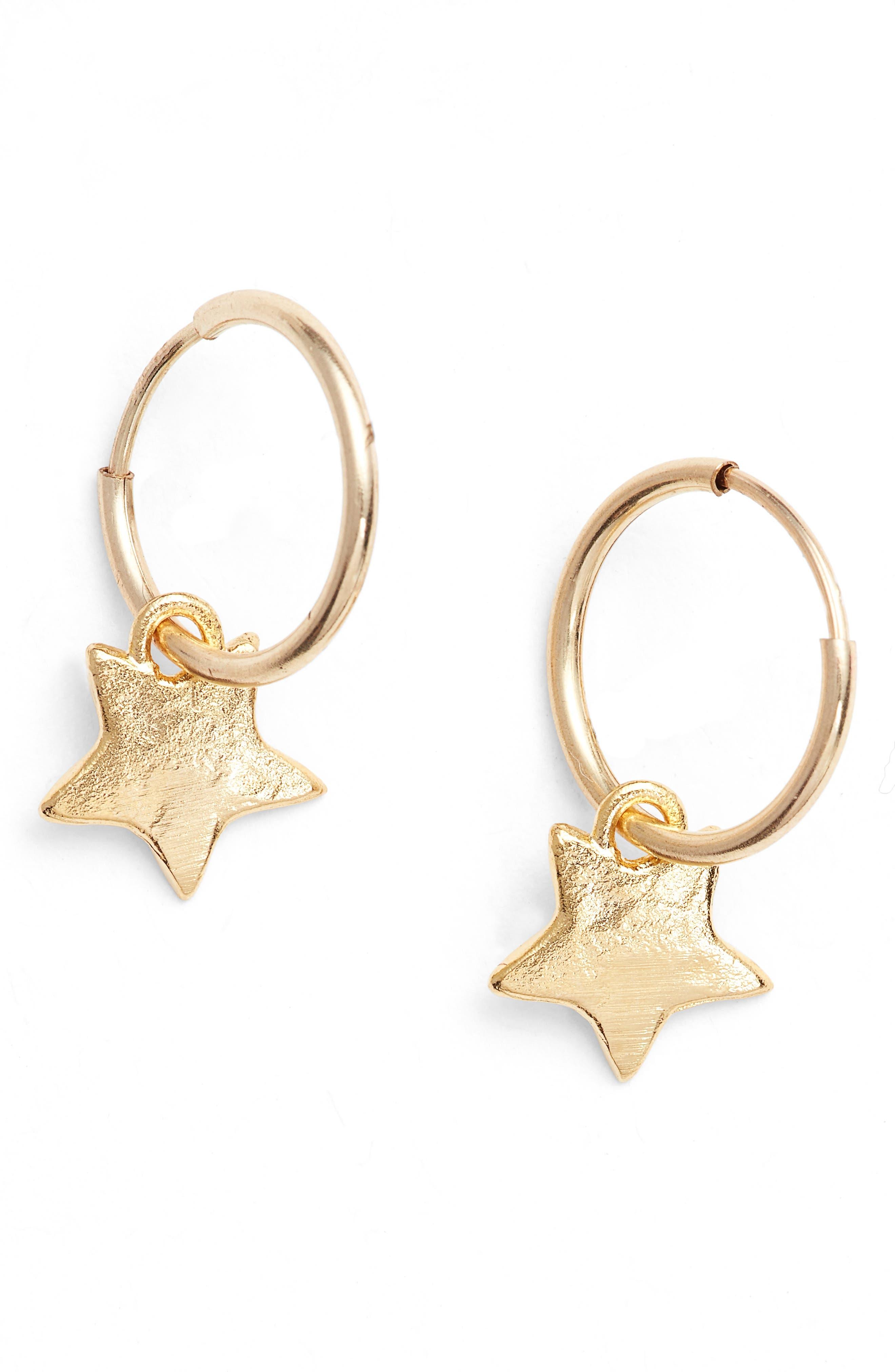 Mini Star Drop Earrings,                             Main thumbnail 2, color,