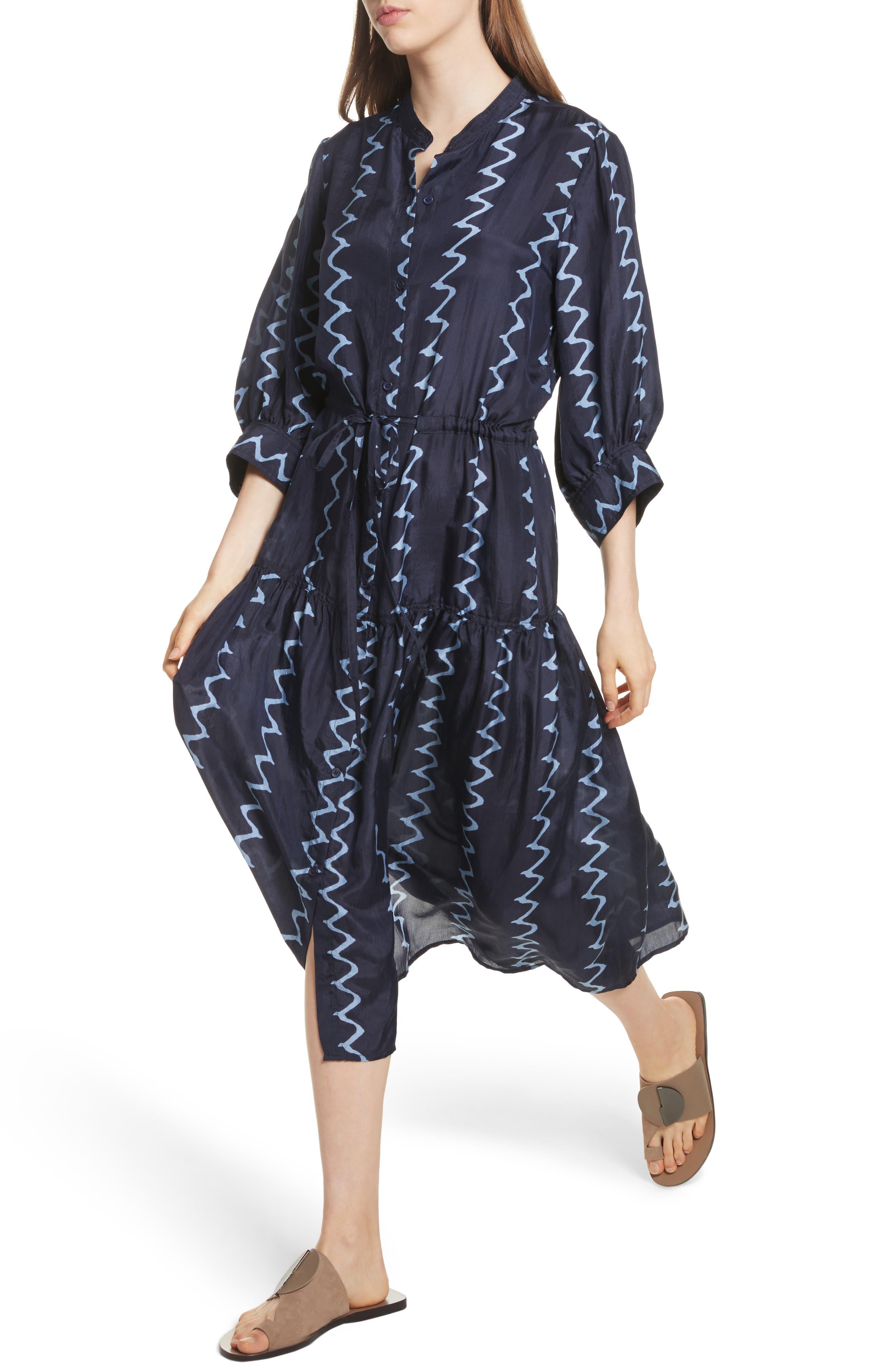 Dunegrass Silk Shirtdress,                             Alternate thumbnail 4, color,
