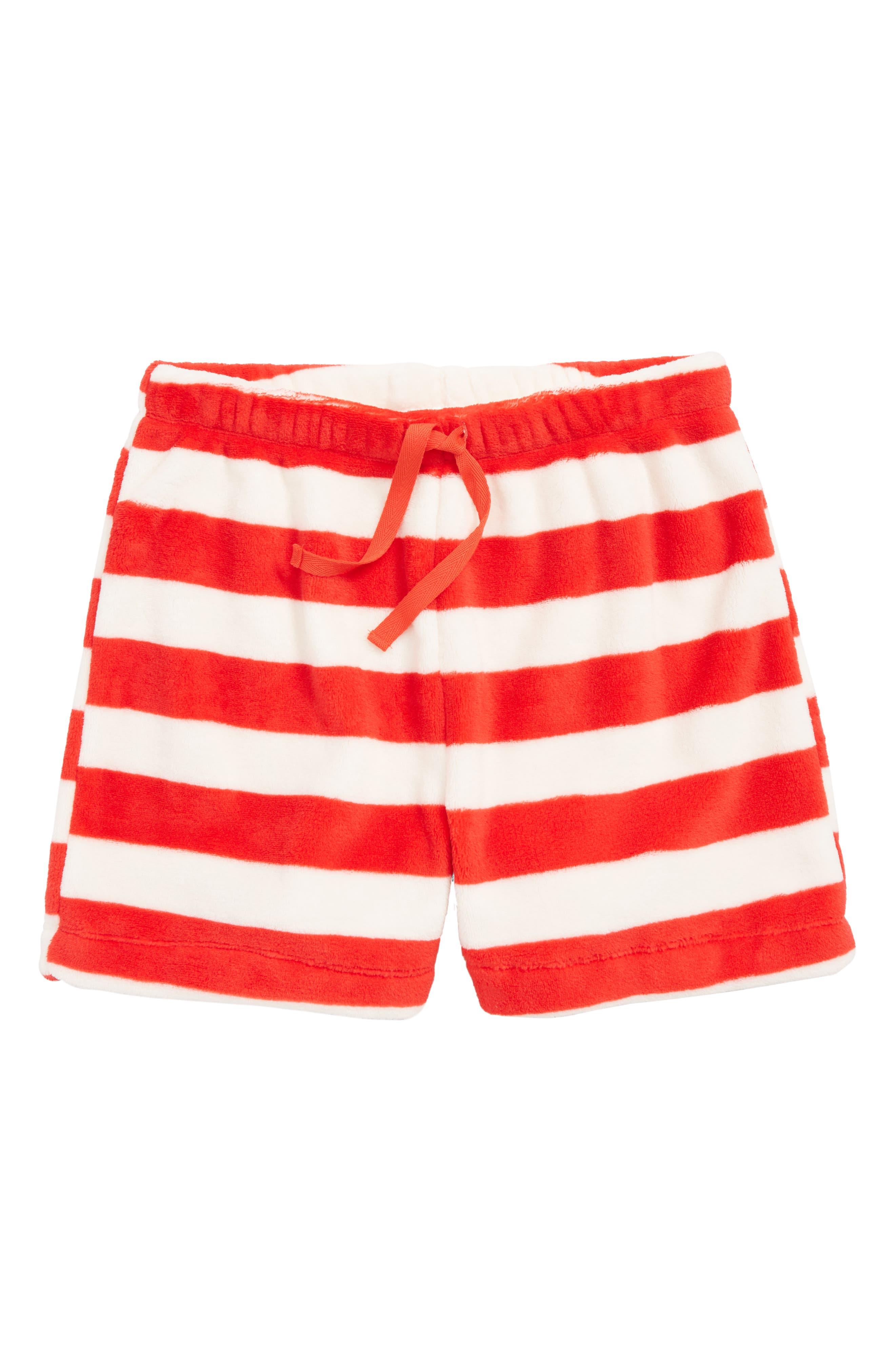 Girls Tucker  Tate Fleece Sleep Shorts Size M (810)  Red