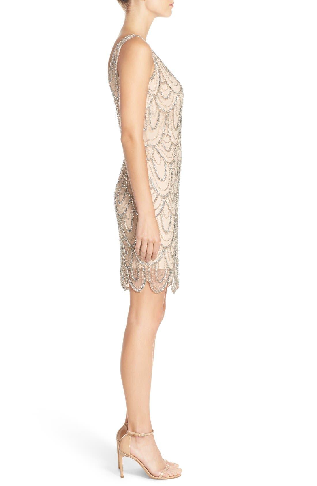 Embellished Mesh Sheath Dress,                             Alternate thumbnail 76, color,