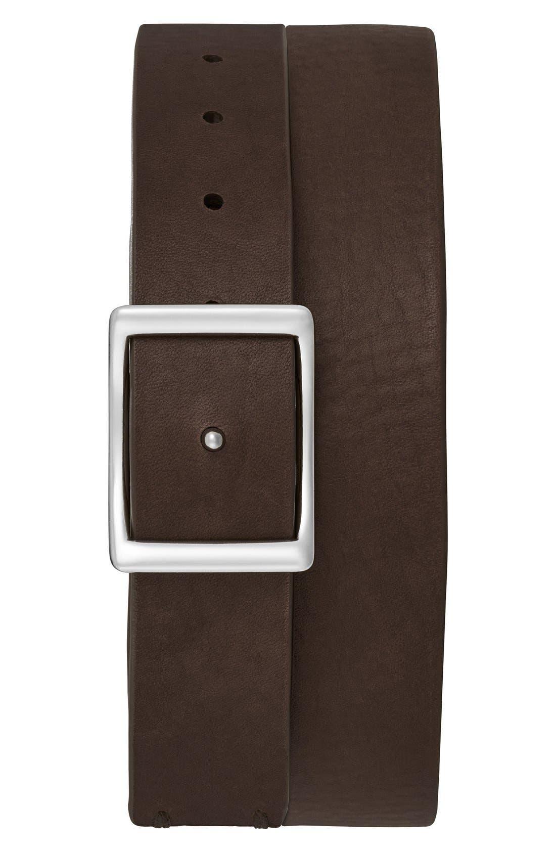 Reversible Leather Belt,                             Alternate thumbnail 4, color,                             002