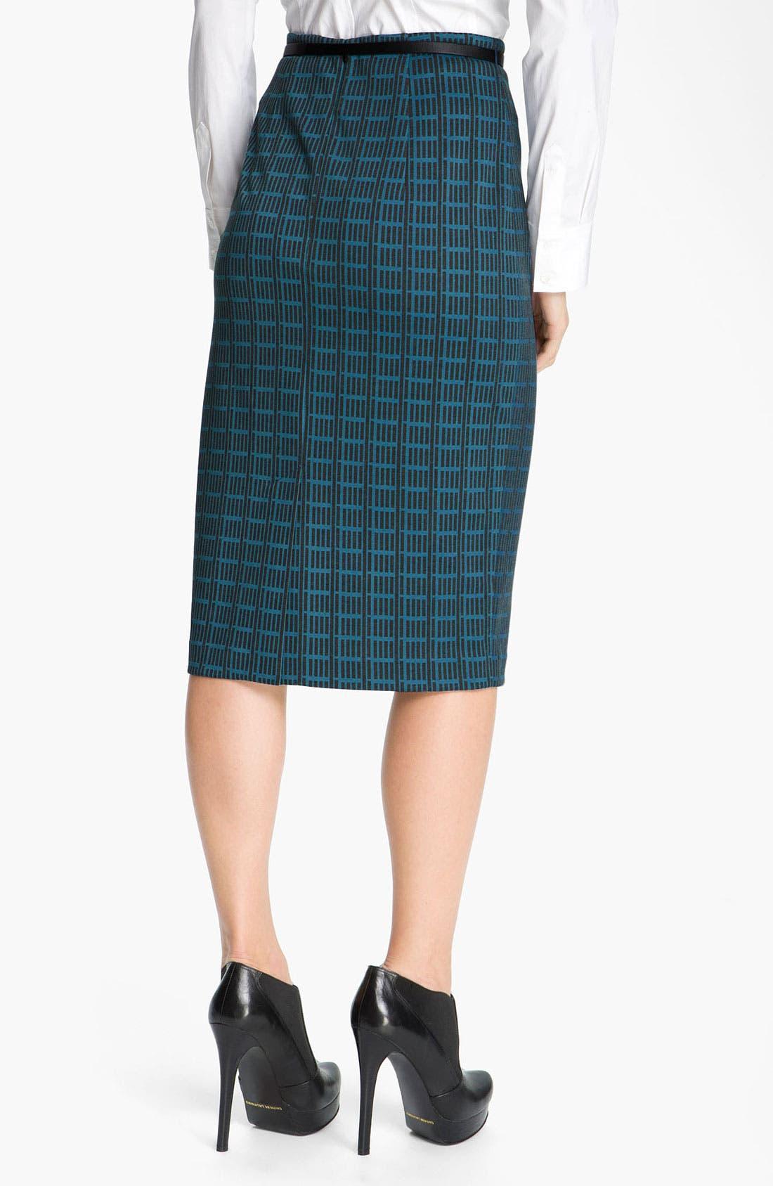 Belted Ponte Skirt,                             Alternate thumbnail 43, color,
