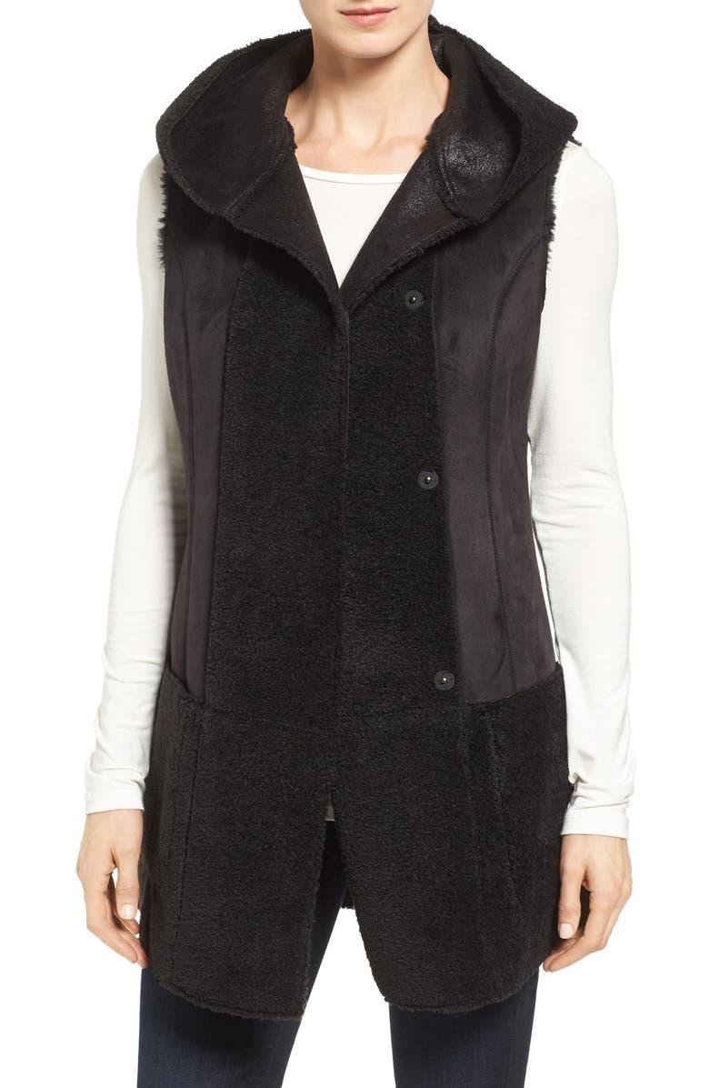 2d5601467941f Jones New York Bonded Faux Shearling Vest