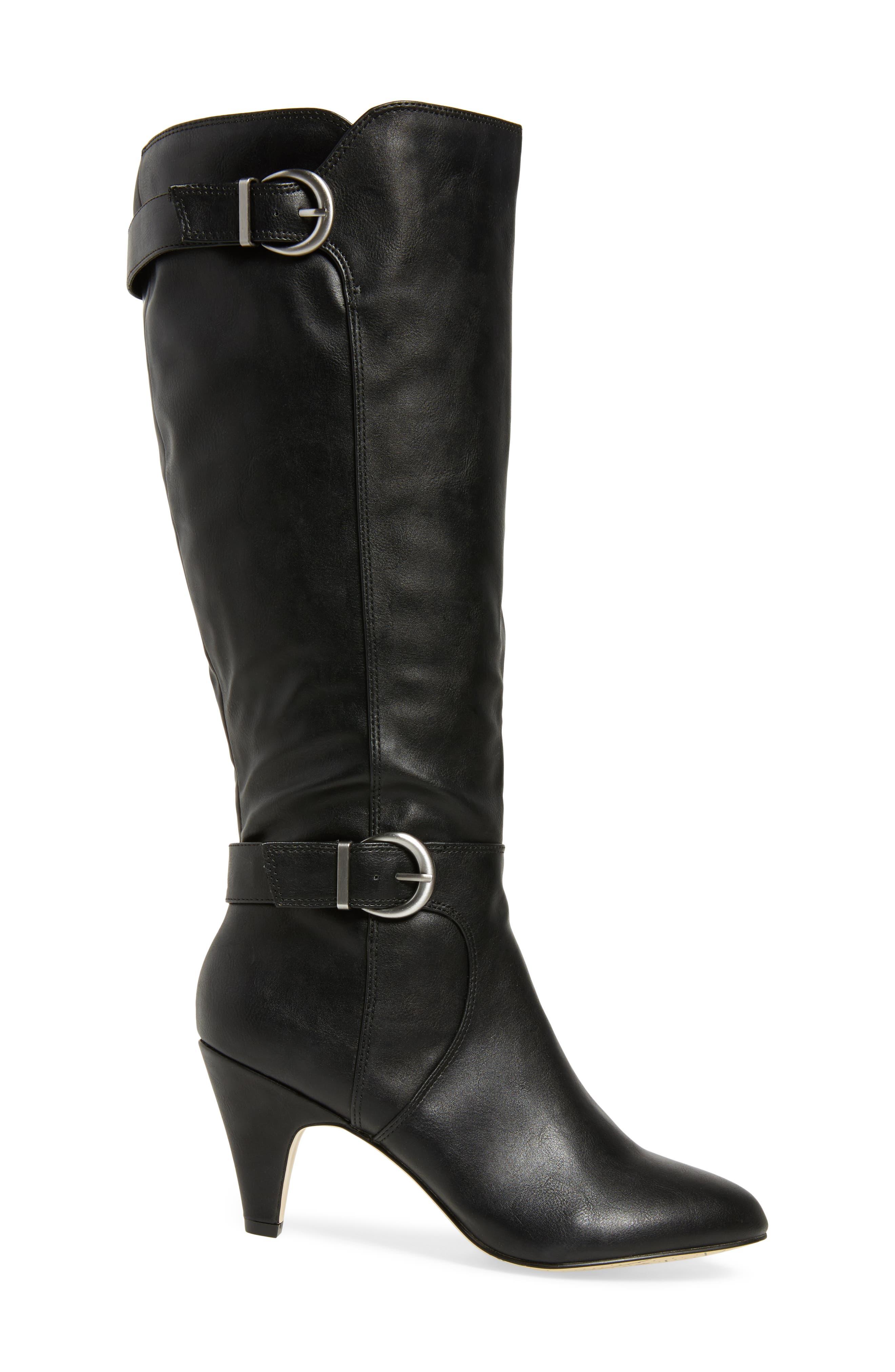 Toni II Knee High Boot,                             Alternate thumbnail 3, color,                             BLACK