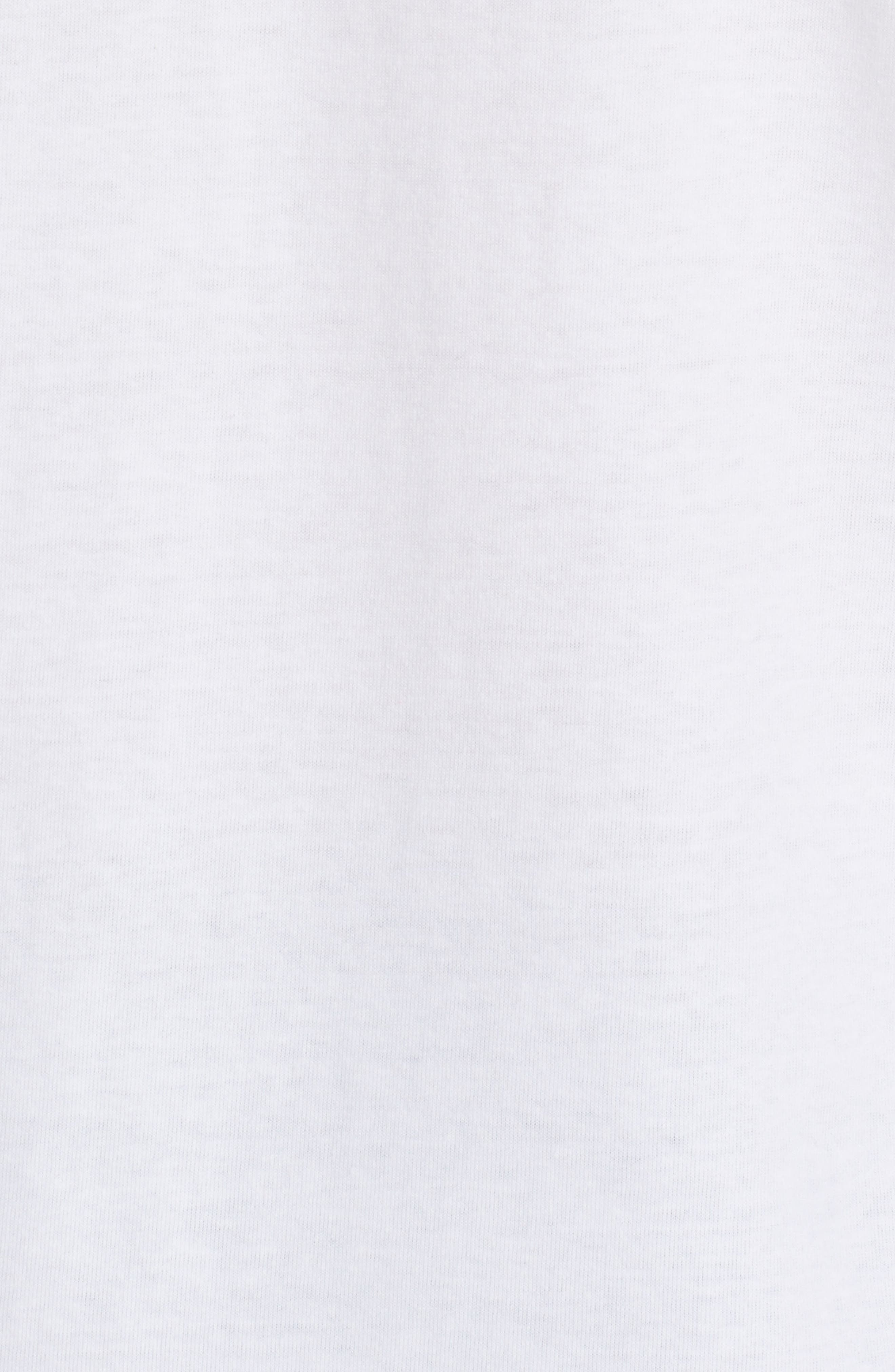 Stretch Face Heart T-Shirt,                             Alternate thumbnail 4, color,                             WHITE