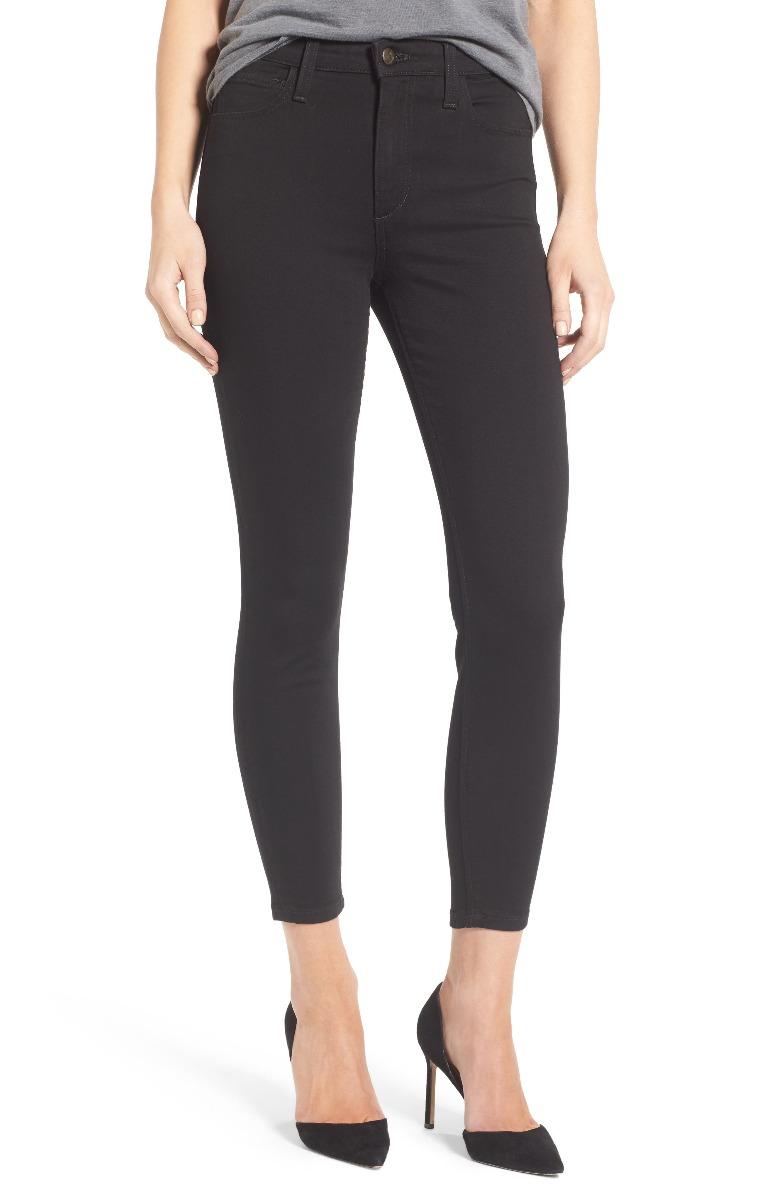 Charlie High Rise Crop Skinny Jeans,                             Main thumbnail 1, color,                             004