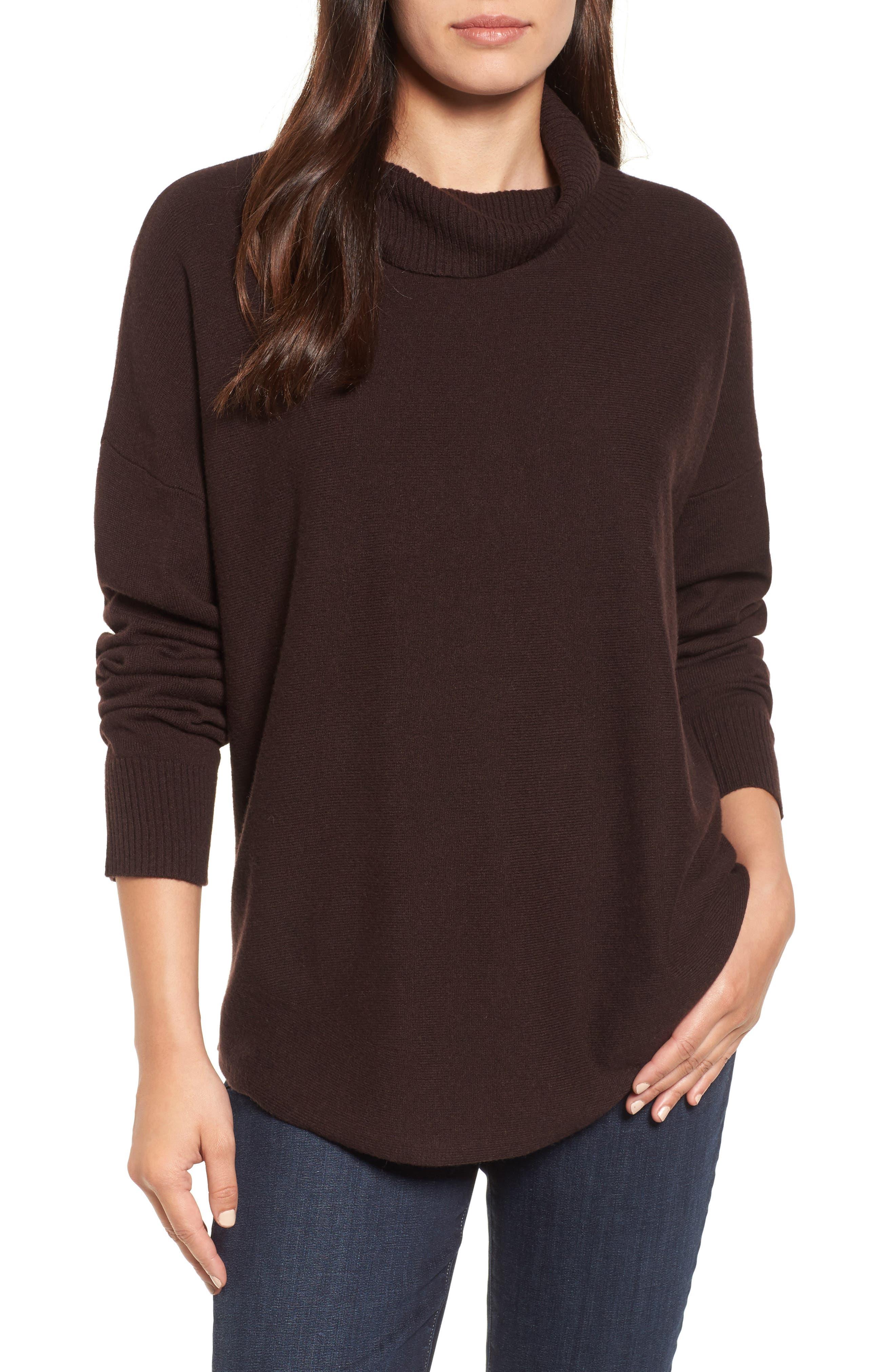 EileenFisher Draped TurtleneckSweater,                             Main thumbnail 1, color,                             211