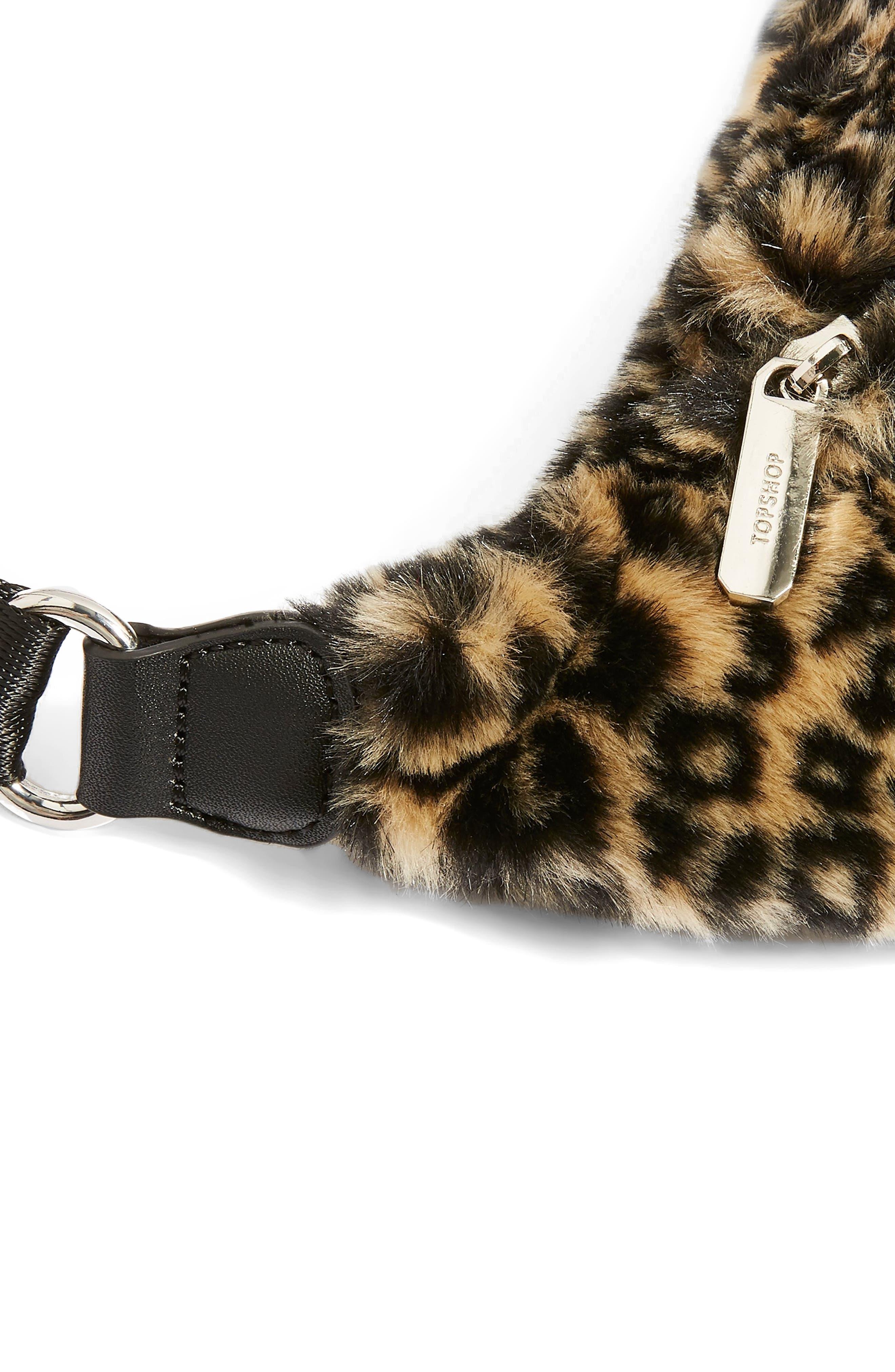 Baxter Leopard Belt Bag,                             Alternate thumbnail 3, color,                             211