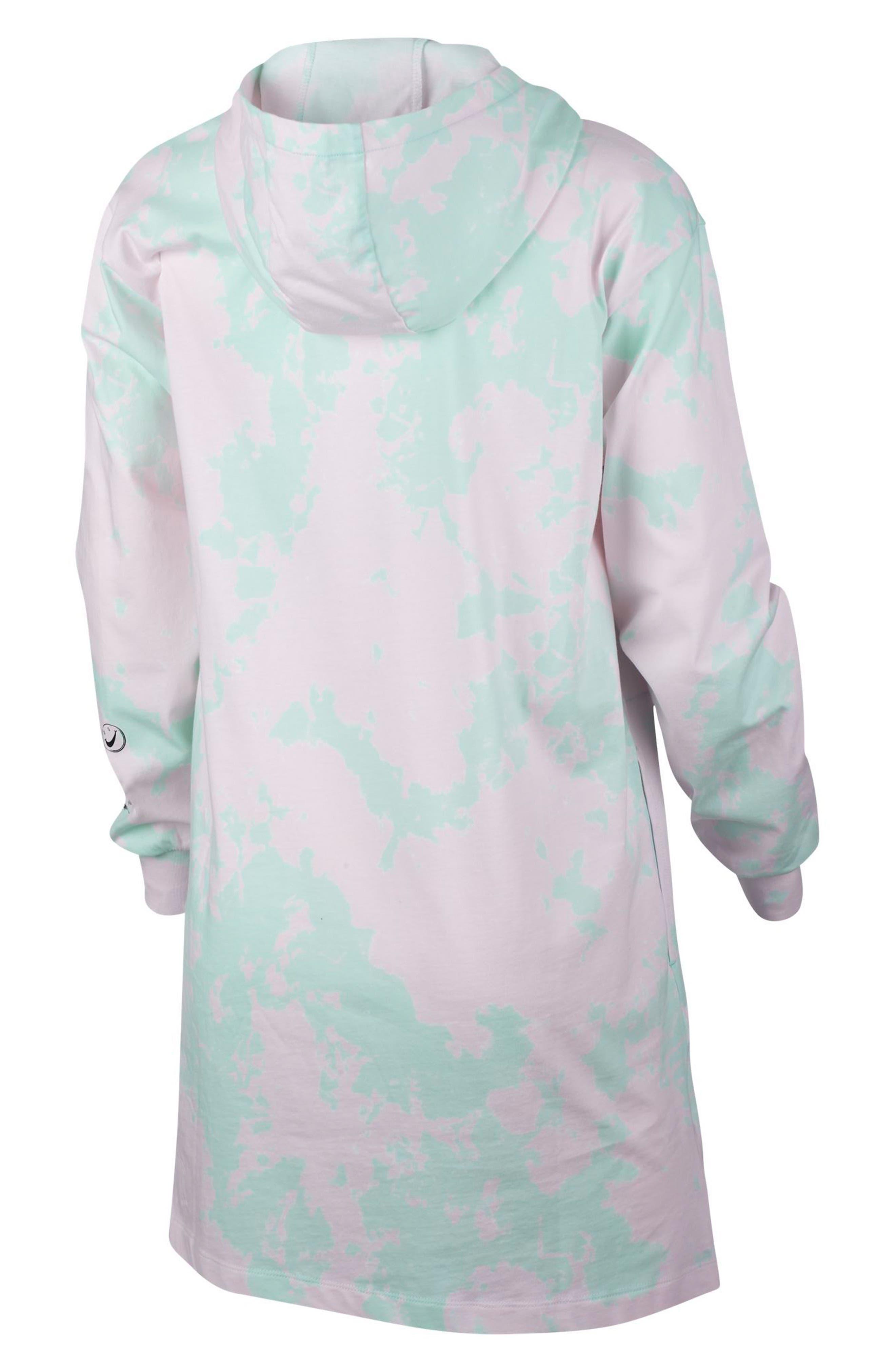 Sportswear Tie Dye Hooded Jersey Dress,                             Alternate thumbnail 2, color,                             400