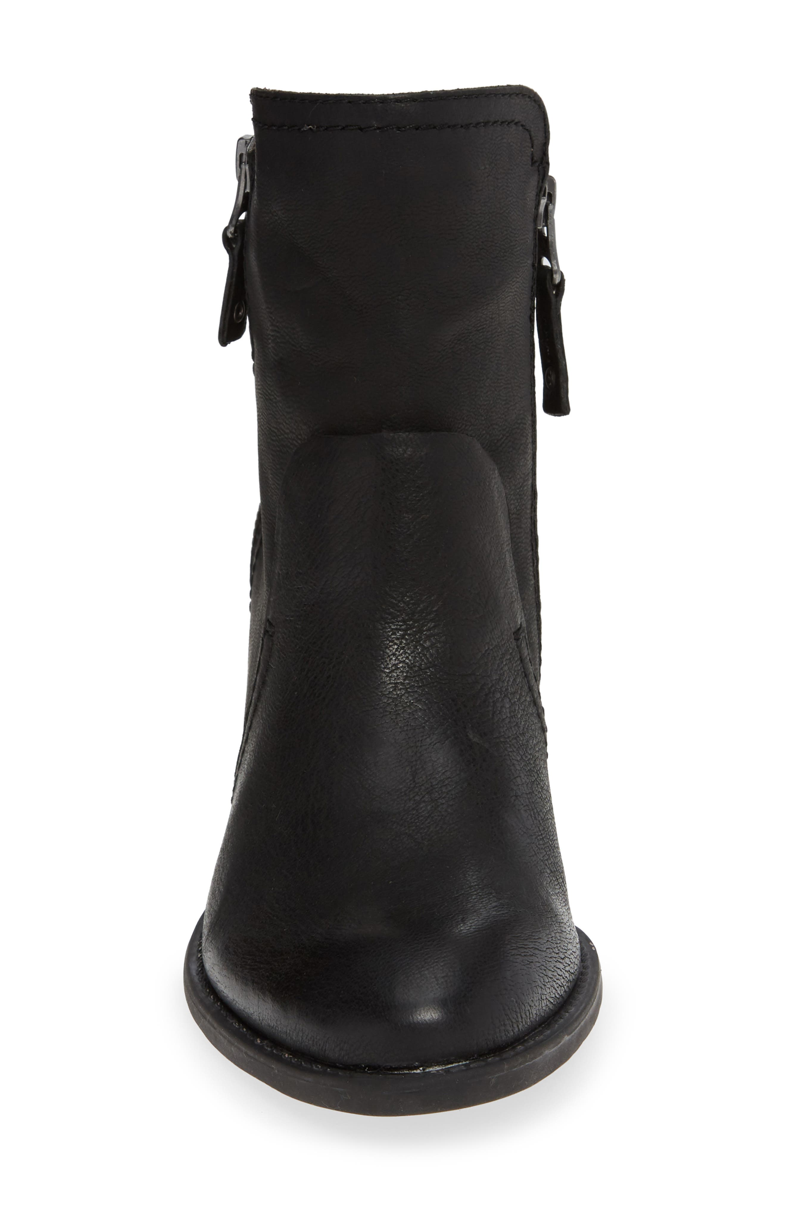 Red Eye Bootie,                             Alternate thumbnail 4, color,                             BLACK LEATHER