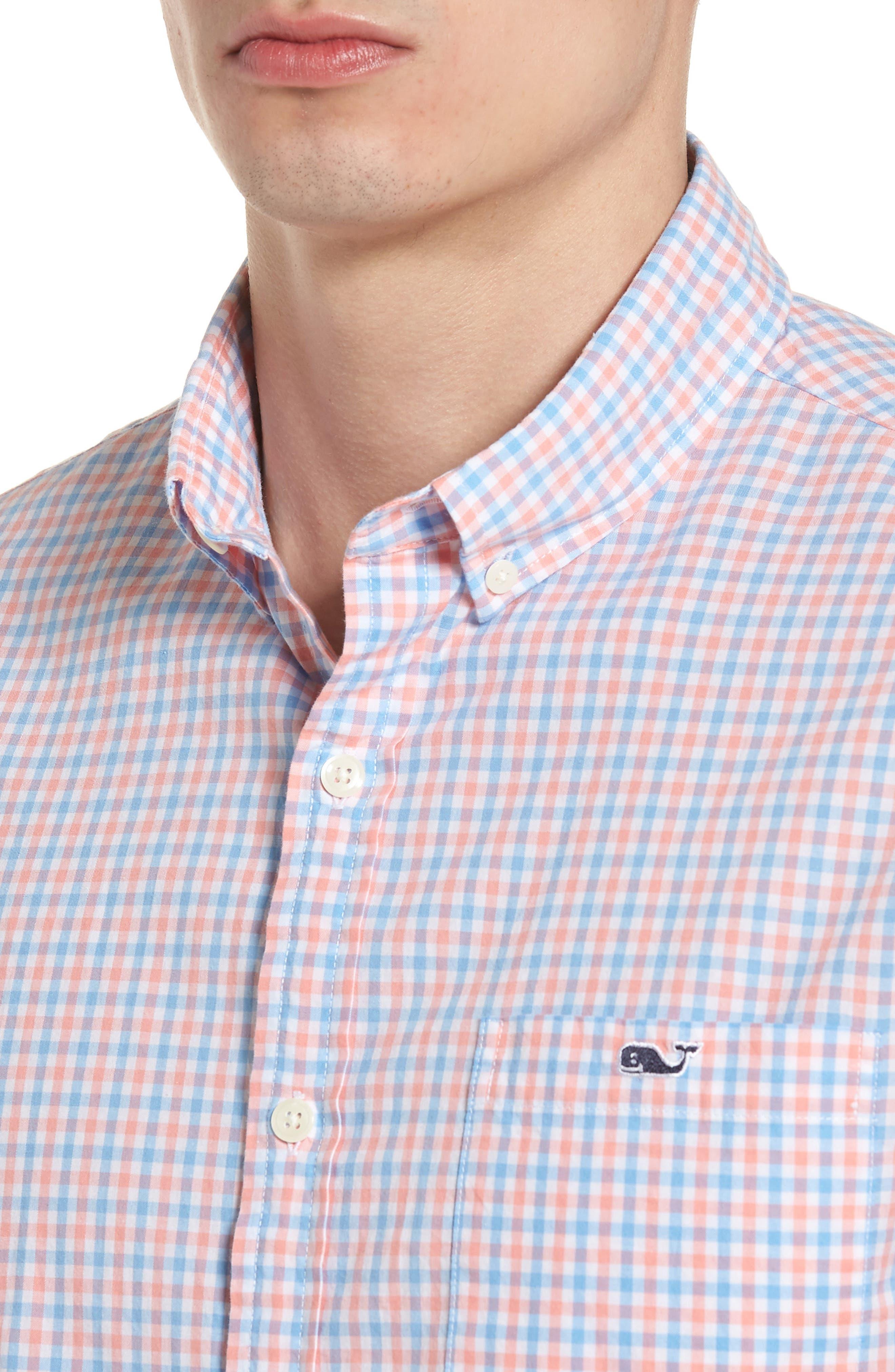 Tipsy Turtle Check Slim Fit Sport Shirt,                             Alternate thumbnail 12, color,