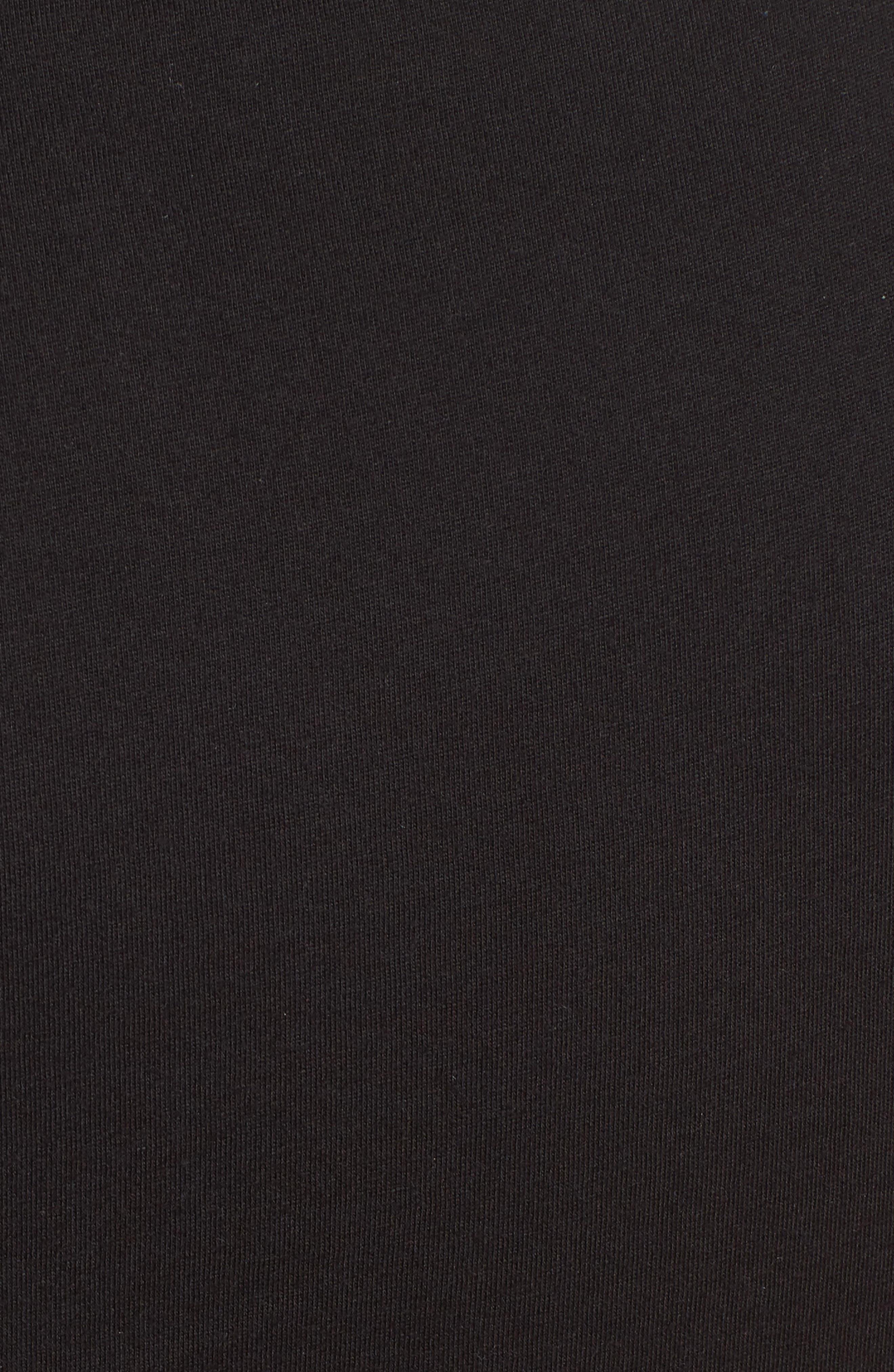 Knot Front Cutout T-Shirt Dress,                             Alternate thumbnail 5, color,                             BLACK