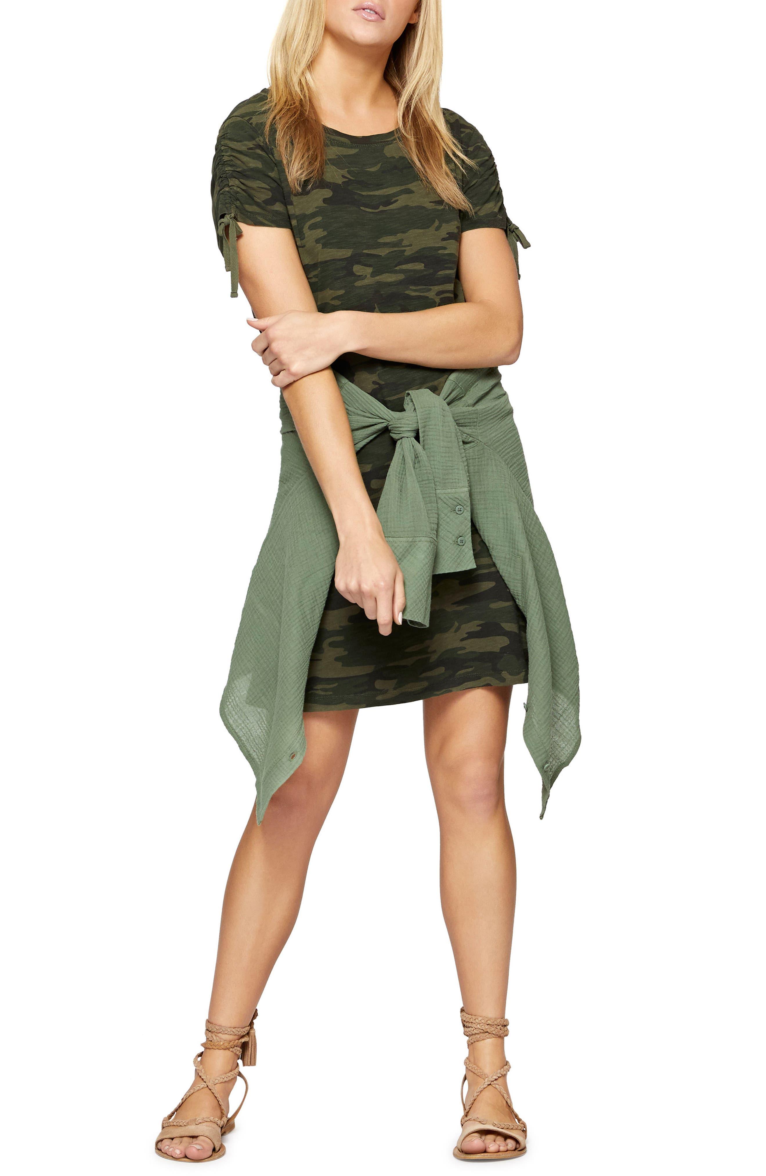 Ojai T-Shirt Dress,                             Alternate thumbnail 3, color,                             MOTHER NATURE CAMO