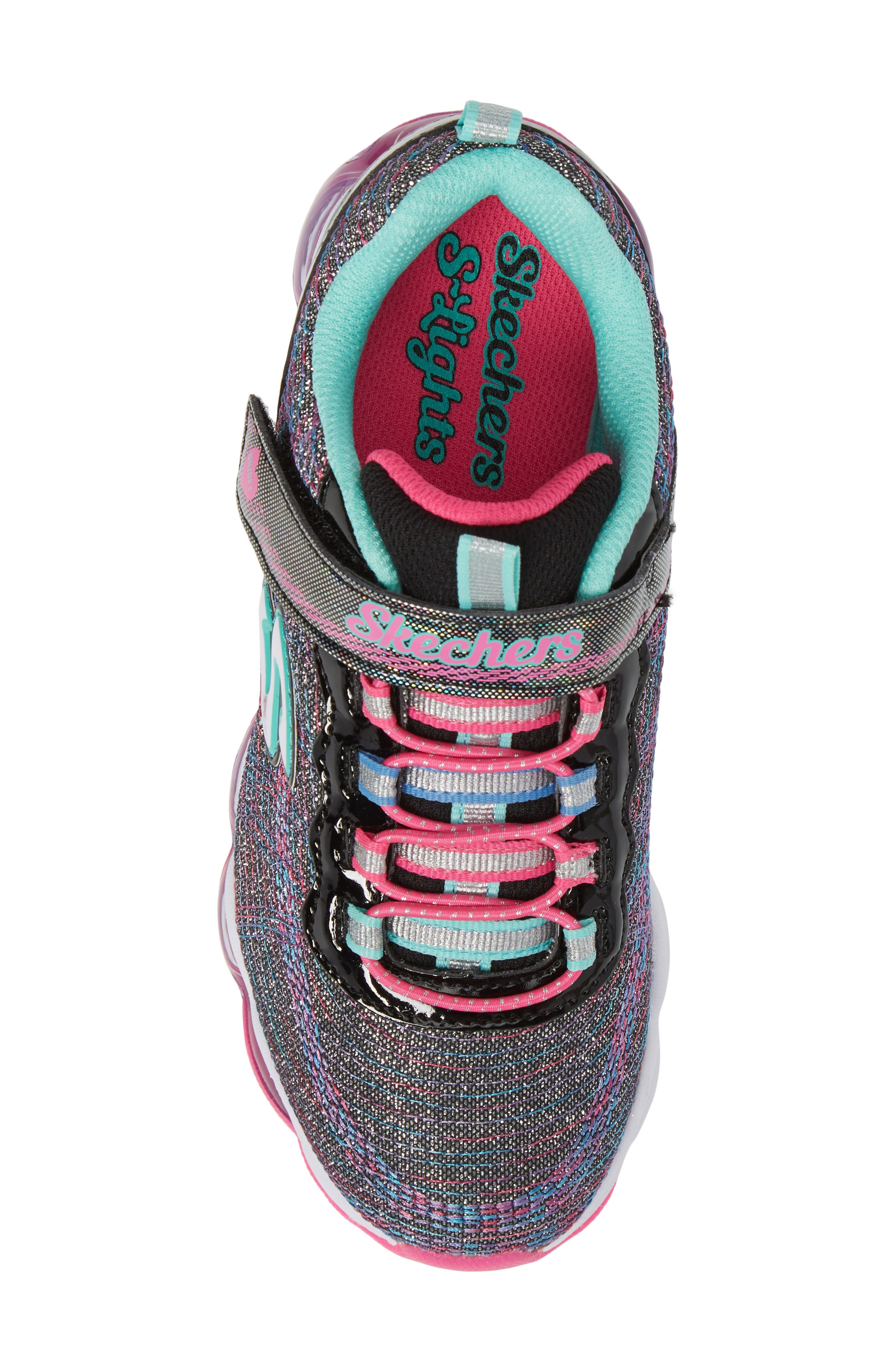 Glimmer Lights Sneakers,                             Alternate thumbnail 5, color,                             001
