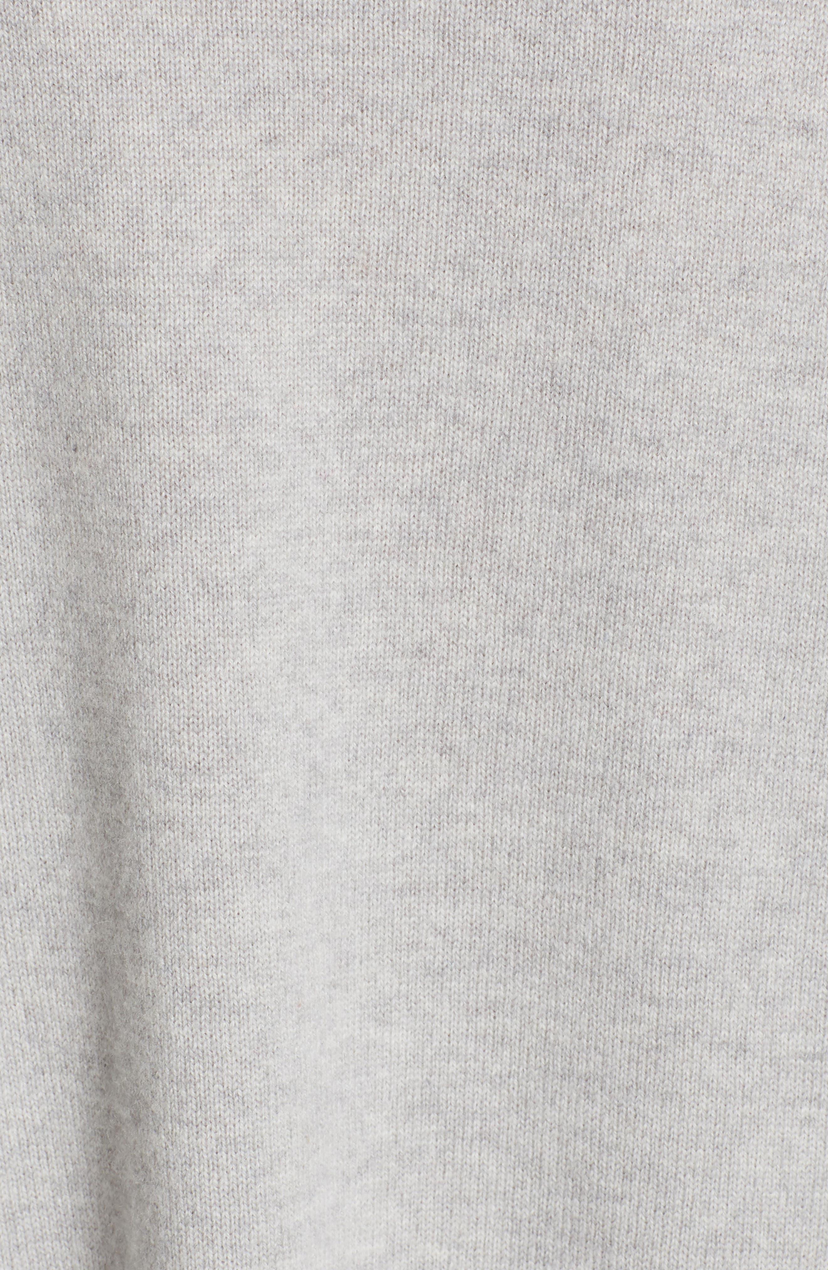FABIANA FILIPPI,                             Tulle Inset Cashmere Sweater,                             Alternate thumbnail 6, color,                             GREY