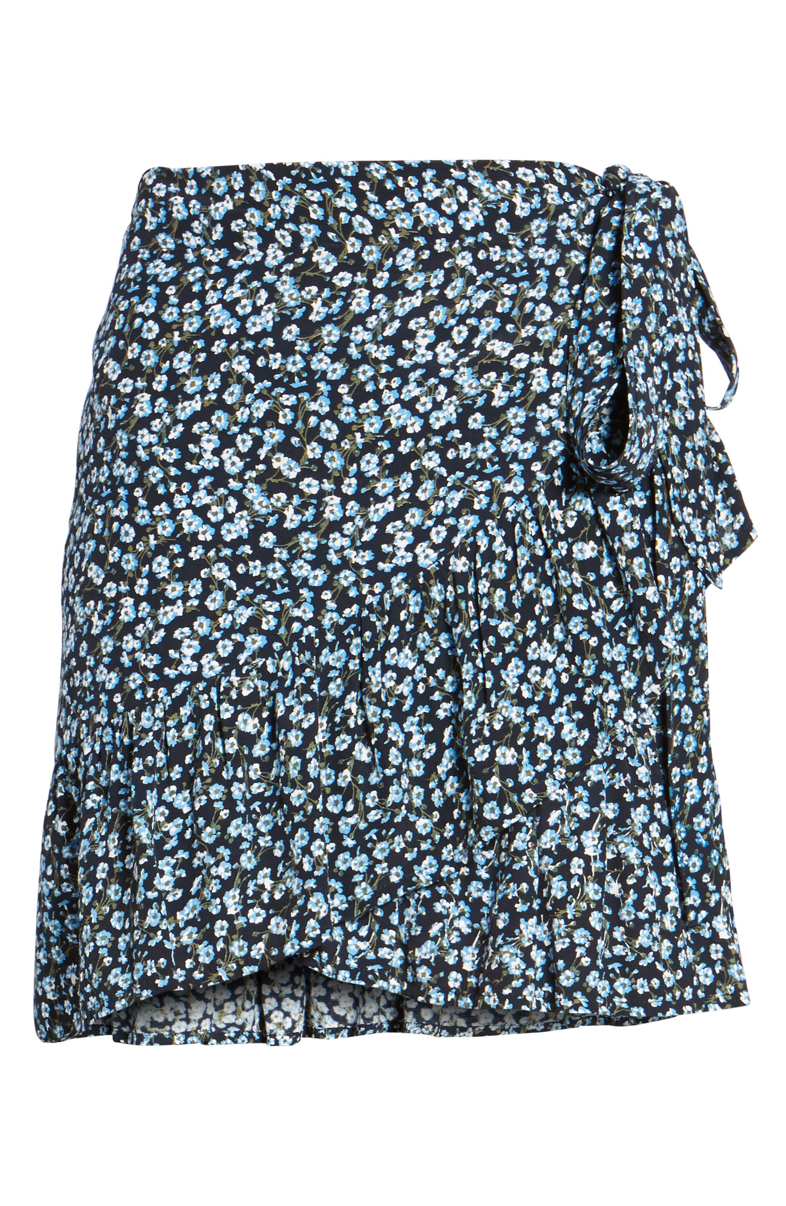 Gilda Floral Skirt,                             Alternate thumbnail 6, color,