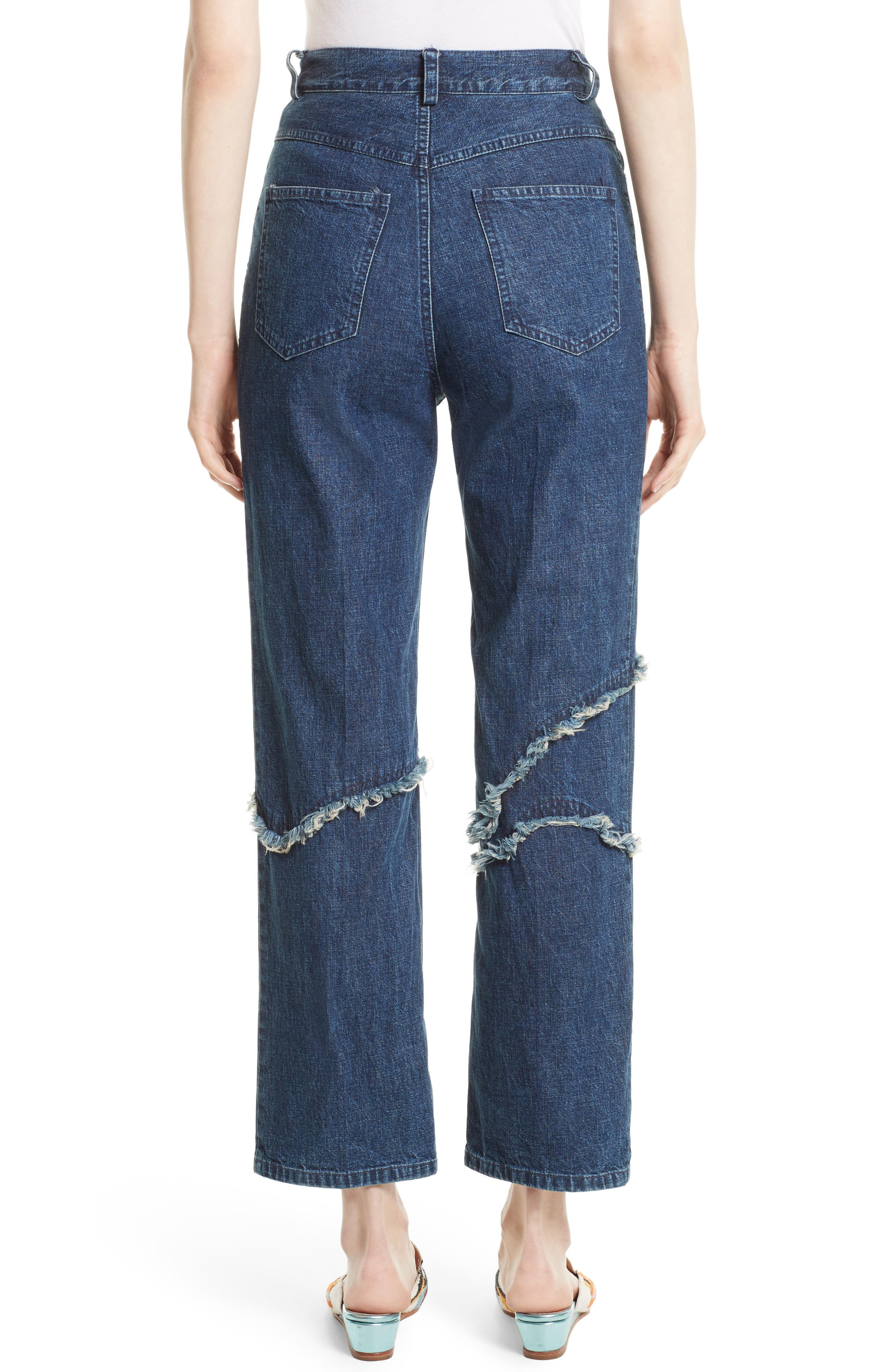Ticklers Frayed High Waist Crop Jeans,                             Alternate thumbnail 2, color,                             420