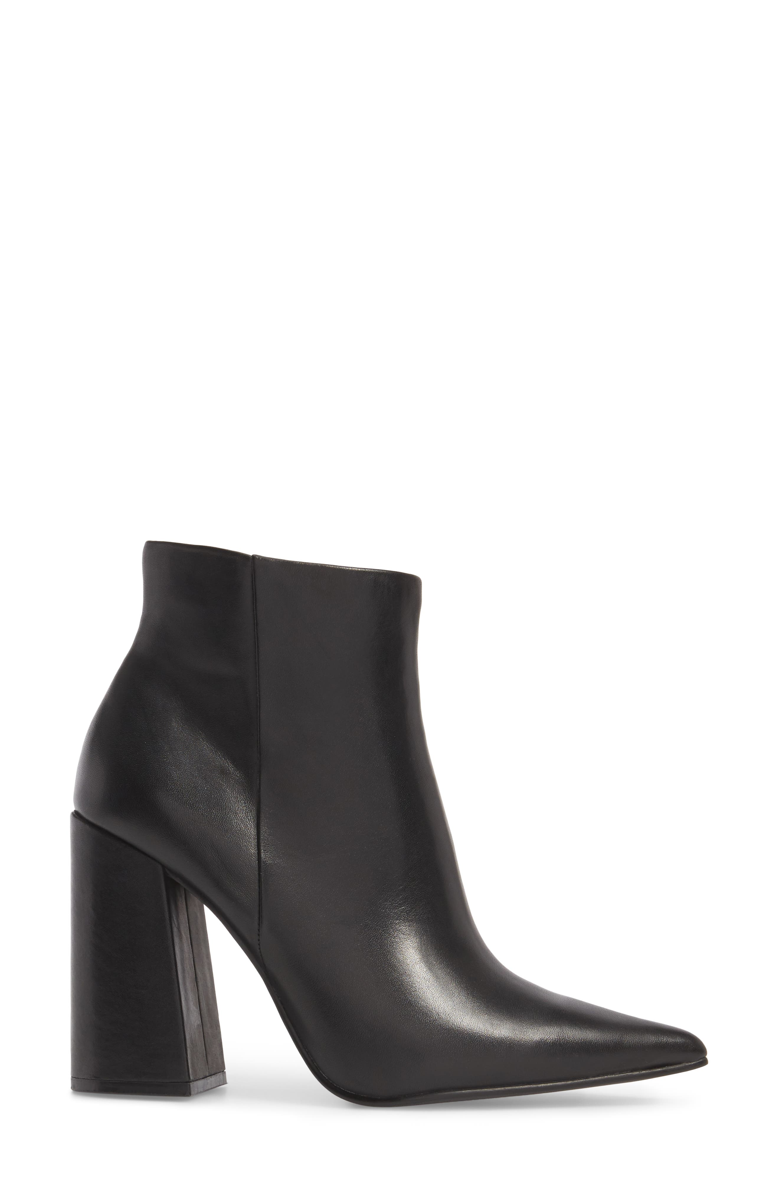 Justify Flared Heel Bootie,                             Alternate thumbnail 3, color,                             001