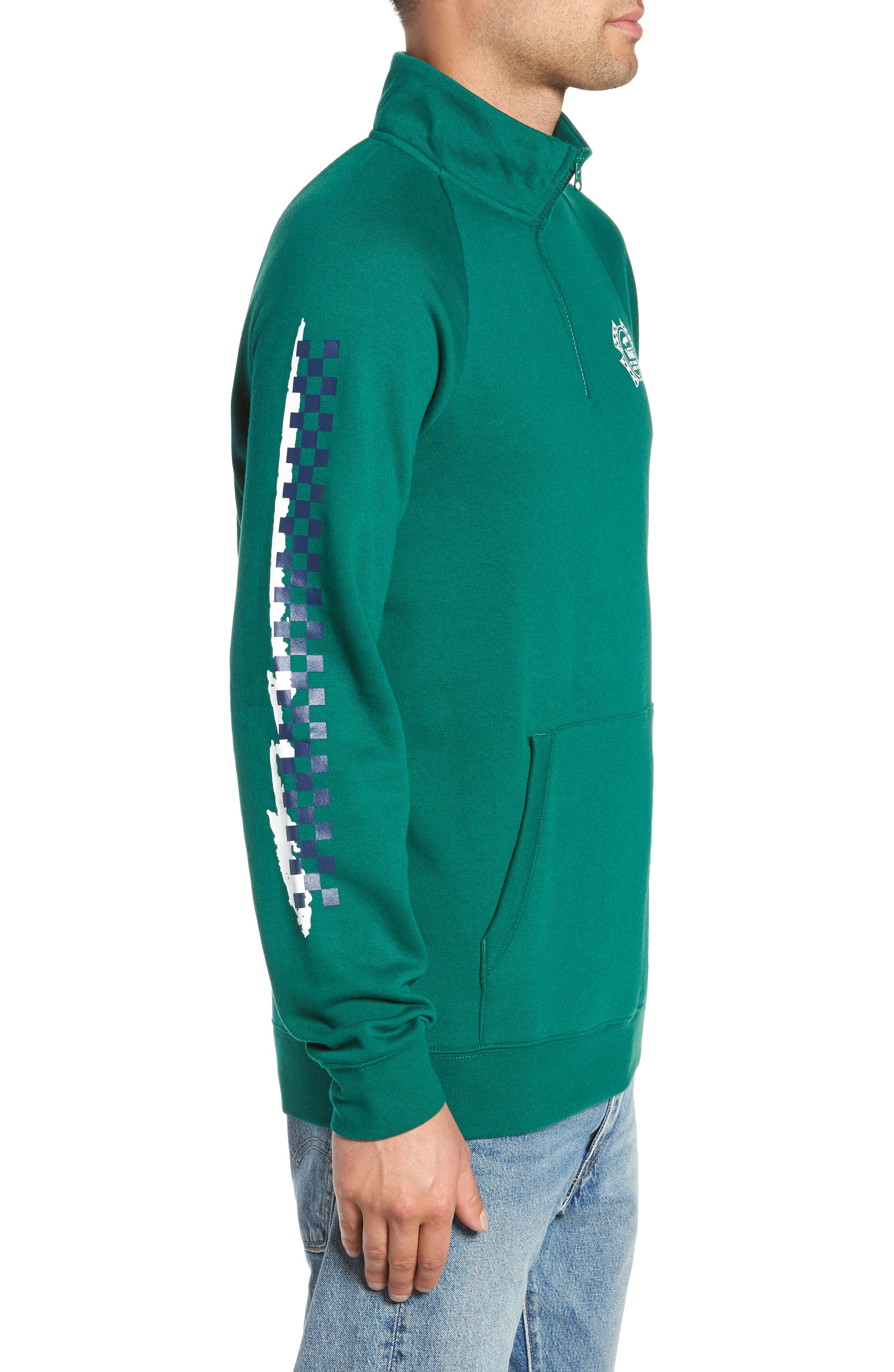 Check It Quarter Zip Pullover,                             Alternate thumbnail 3, color,                             EVERGREEN