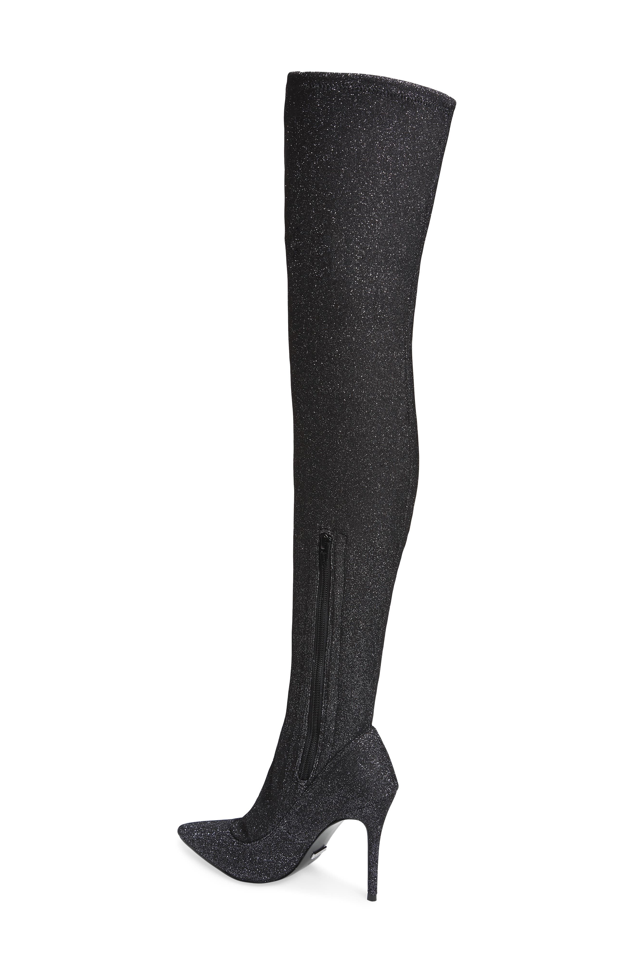 Bellini Stiletto Over the Knee Boot,                             Alternate thumbnail 2, color,                             SILVER