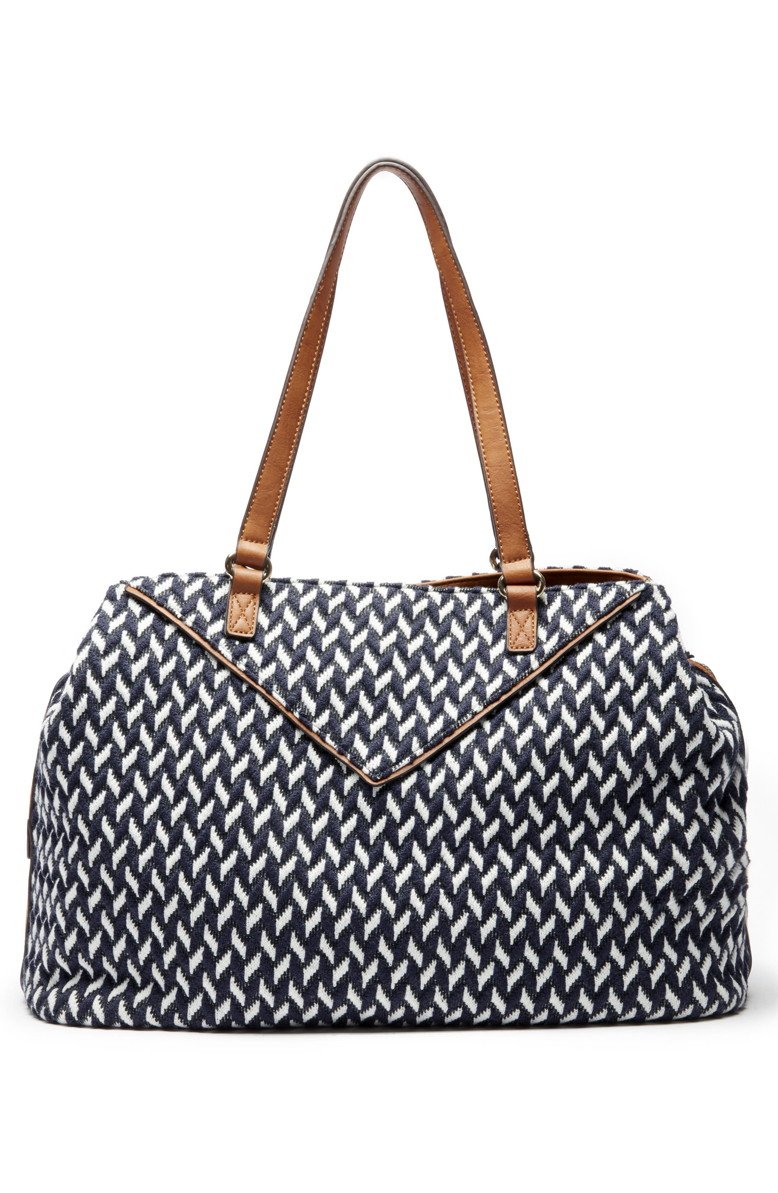 Ginny Woven Tote,                             Alternate thumbnail 2, color,                             NAVY COMBO