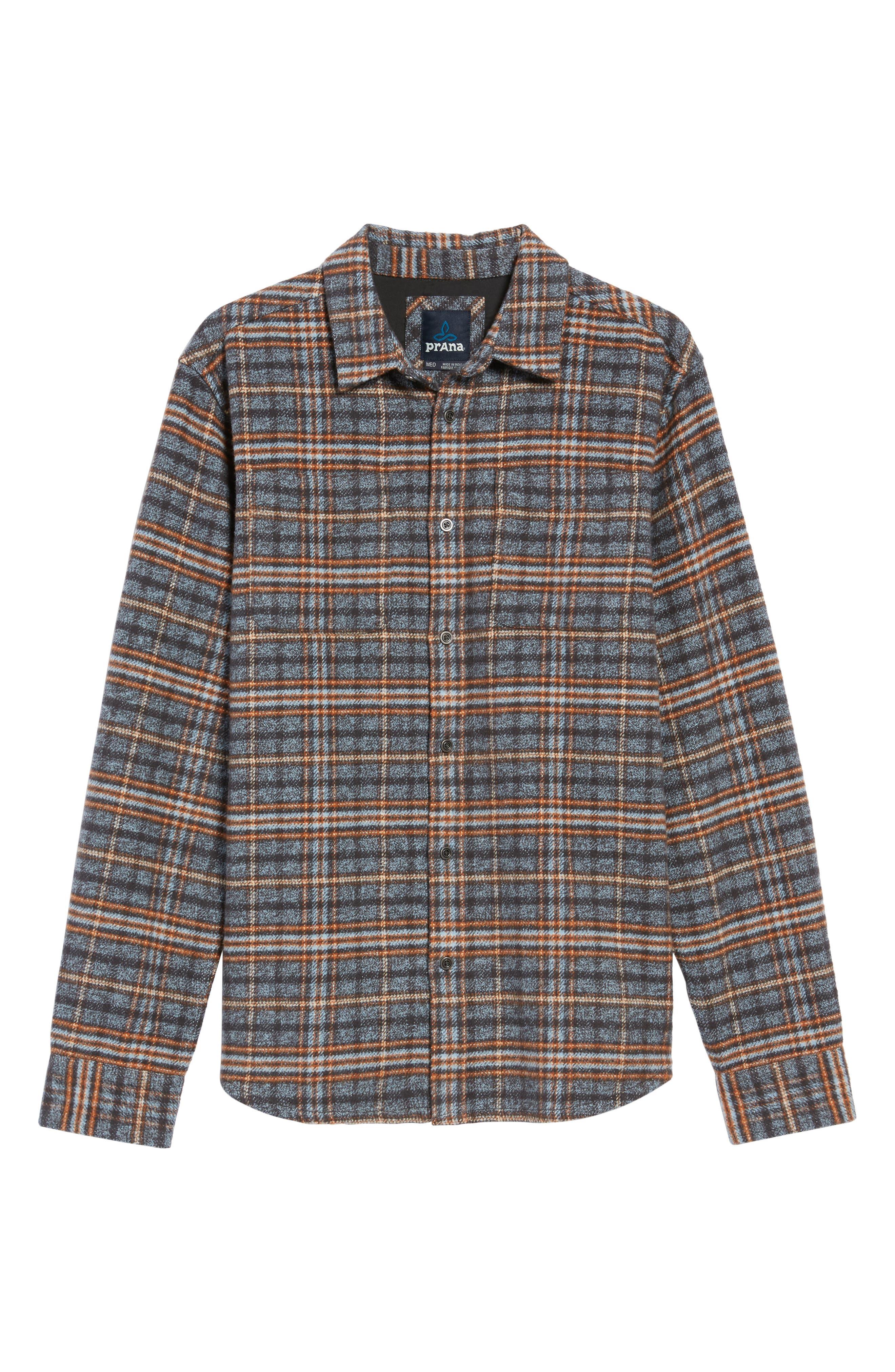 Brayden Regular Fit Plaid Flannel Shirt,                             Alternate thumbnail 11, color,