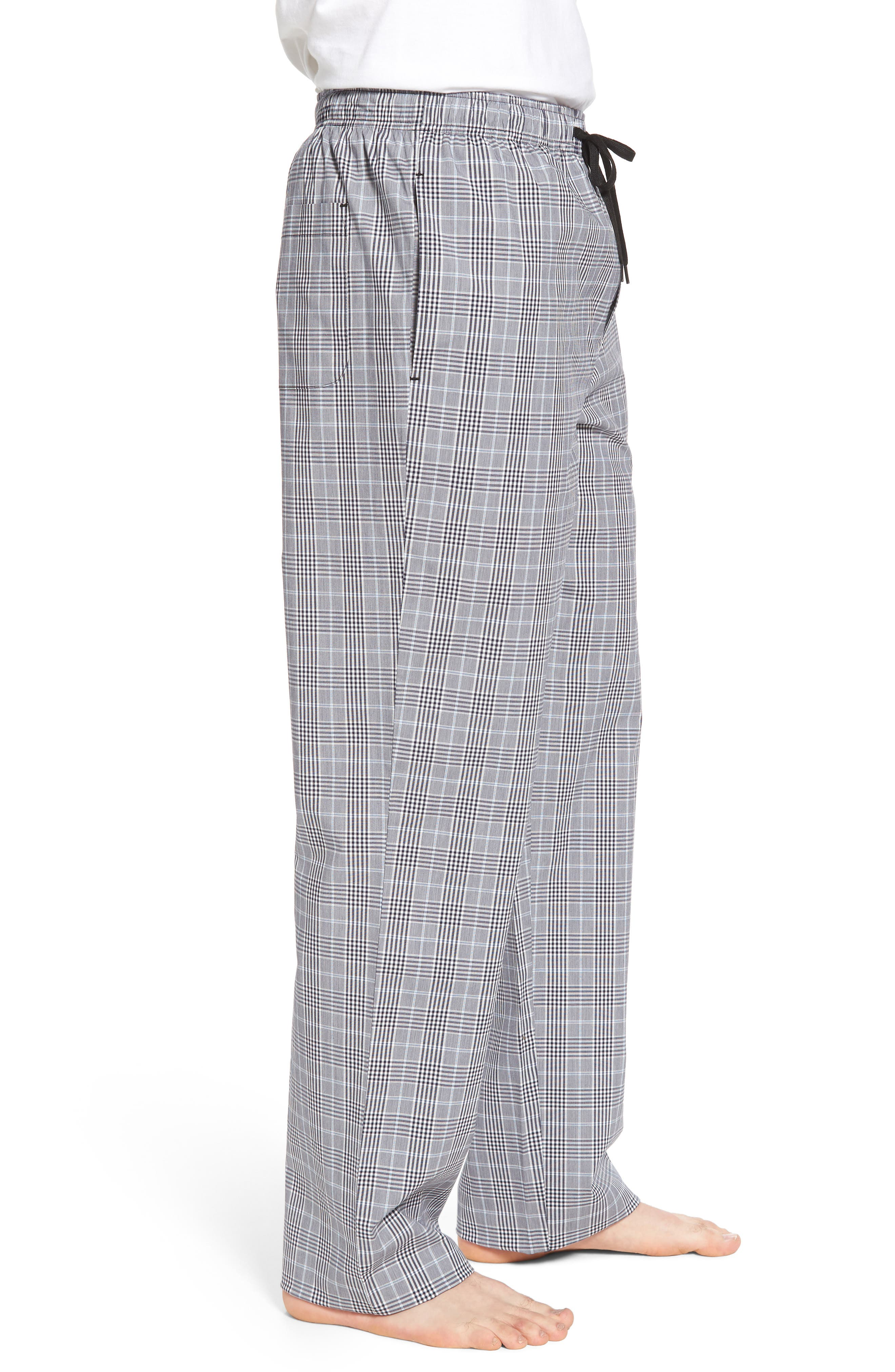 Charleston Lounge Pants,                             Alternate thumbnail 3, color,                             BLACK PLAID