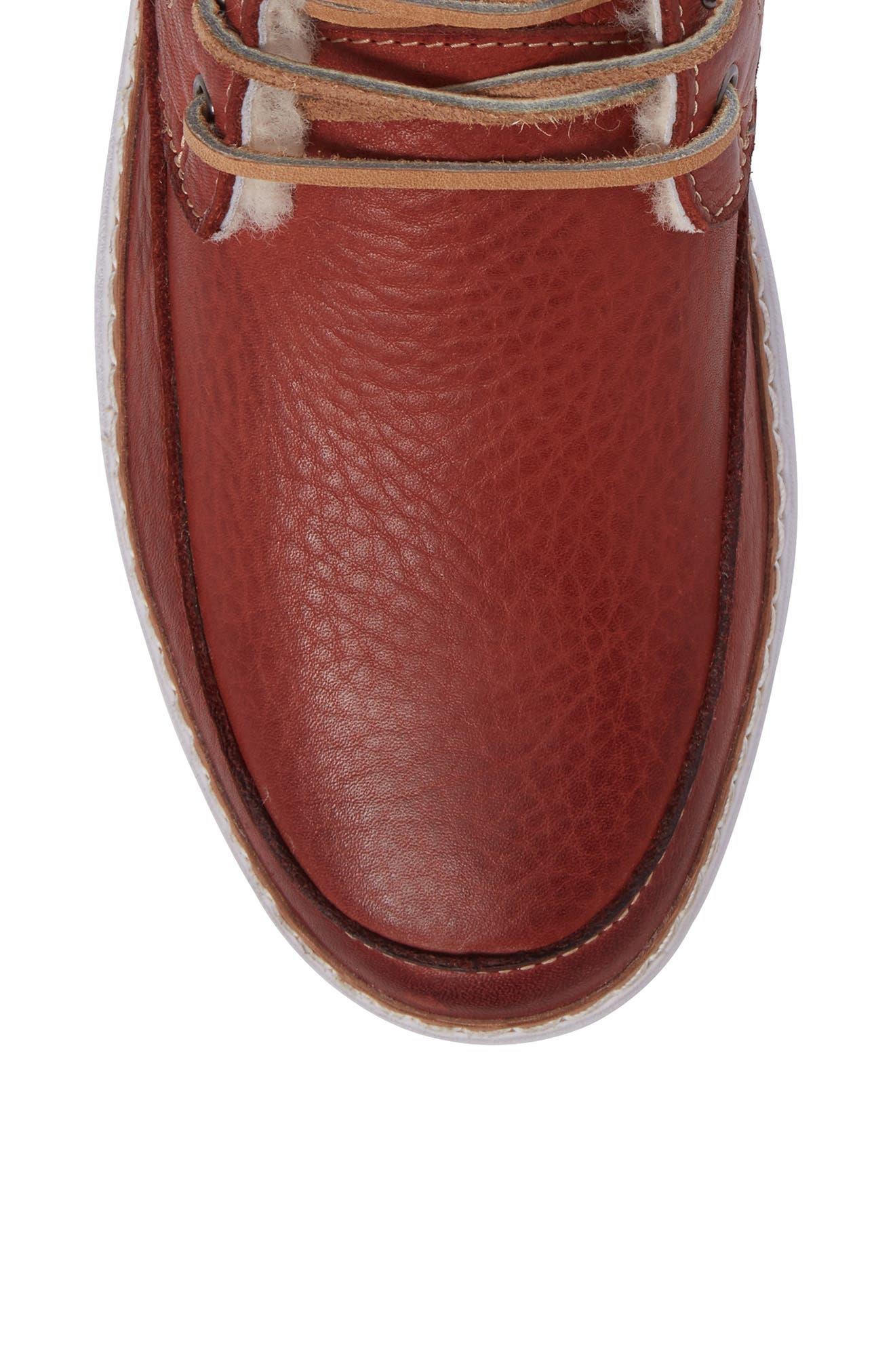 BLACKSTONE,                             'AM 32' Shearling Lined Boot,                             Alternate thumbnail 5, color,                             200