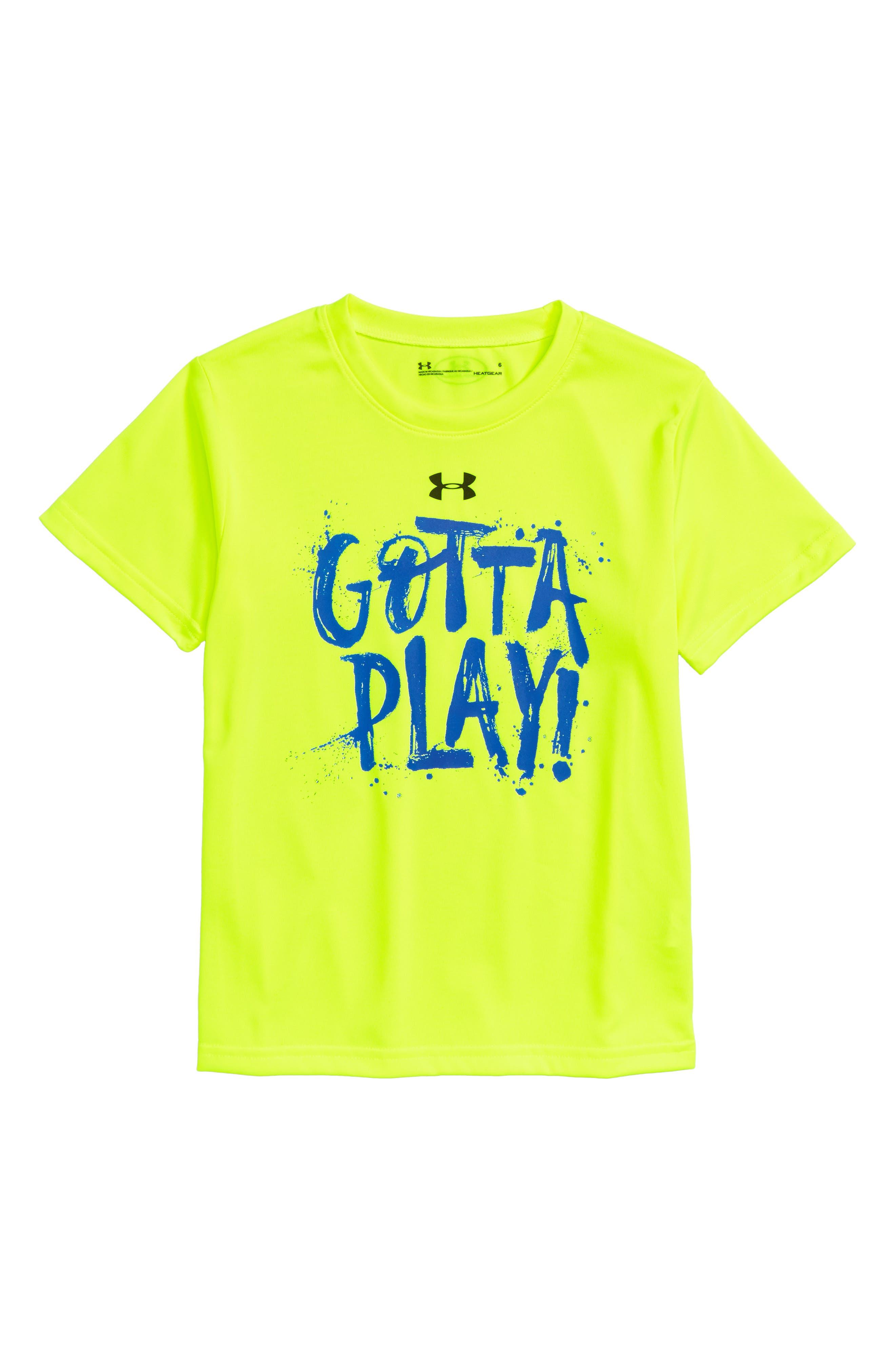 Gotta Play T-Shirt,                         Main,                         color, HI VIS YELLOW