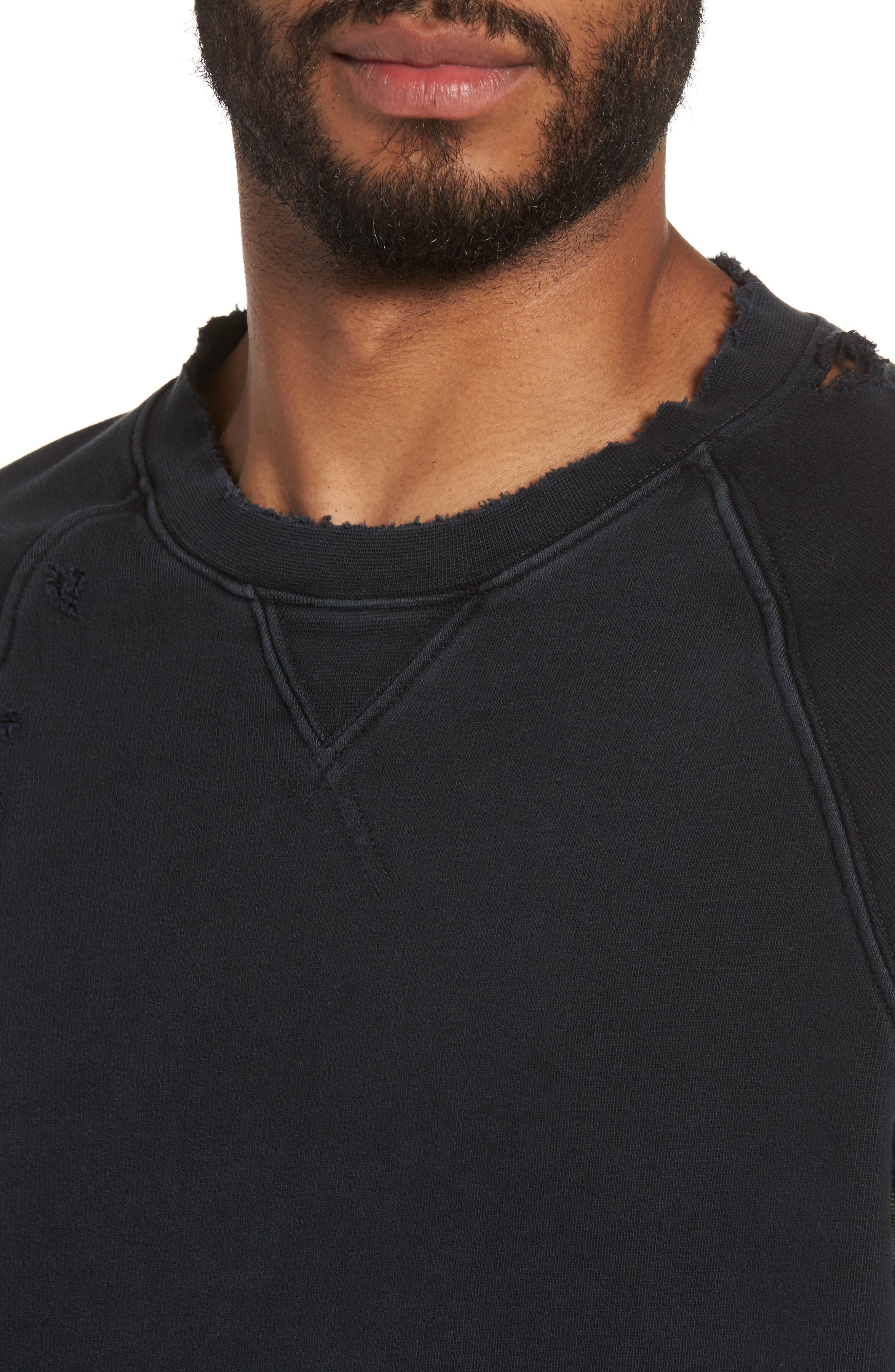 Striker Slim Fit Crewneck Sweatshirt,                             Alternate thumbnail 4, color,