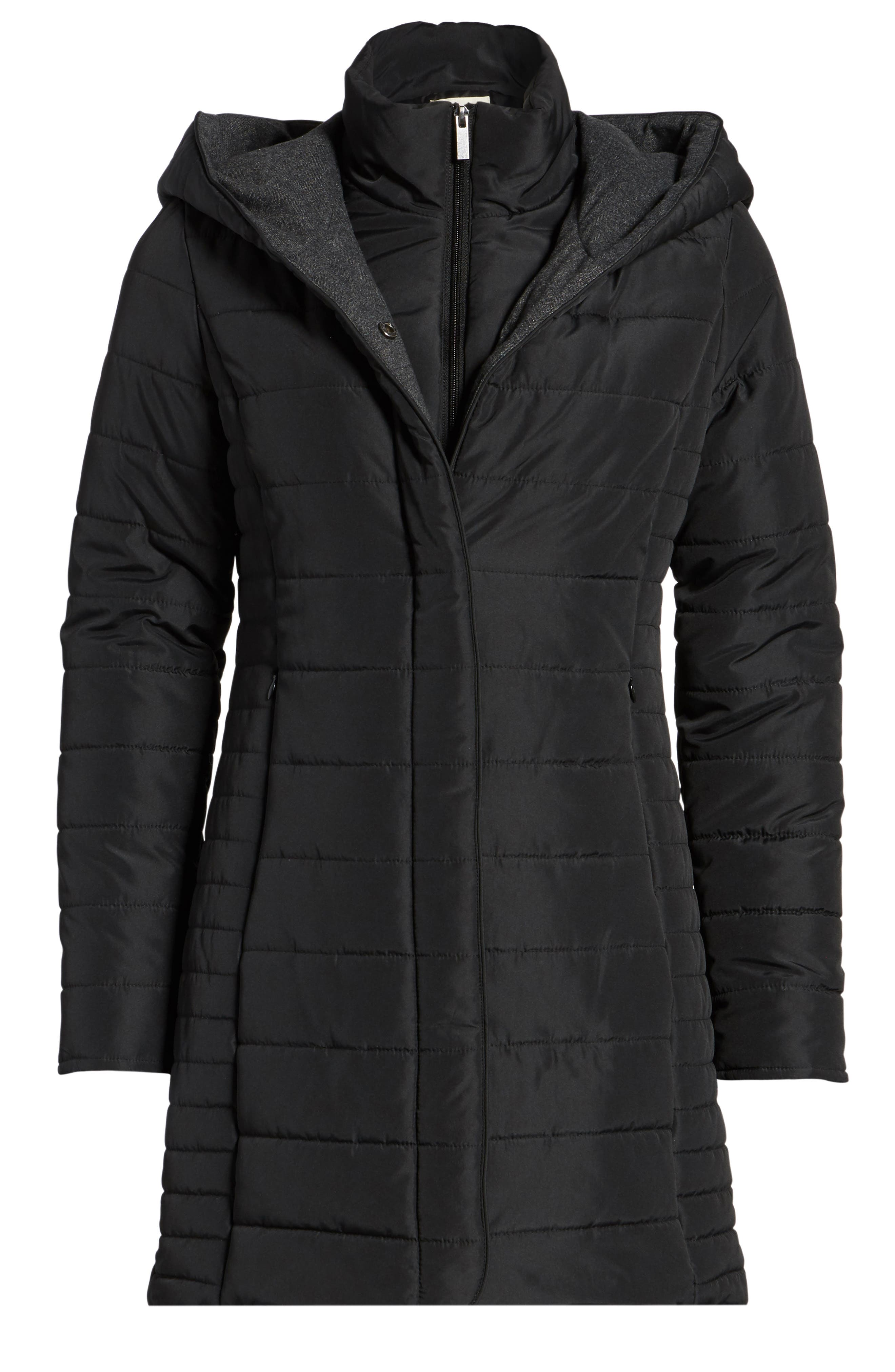 Quilted Hooded Jacket,                             Alternate thumbnail 5, color,