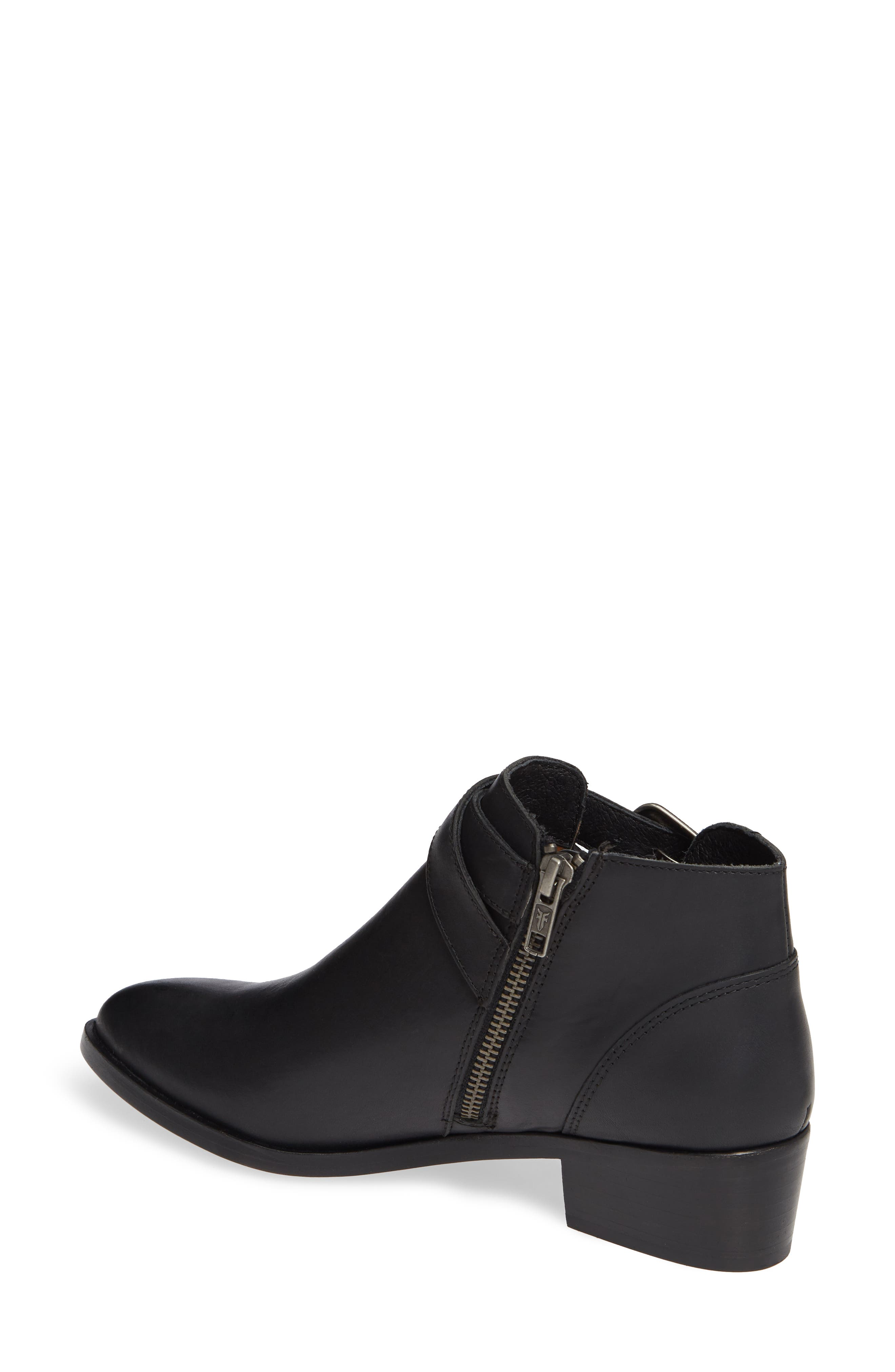 Ray Western Bootie,                             Alternate thumbnail 2, color,                             BLACK LEATHER
