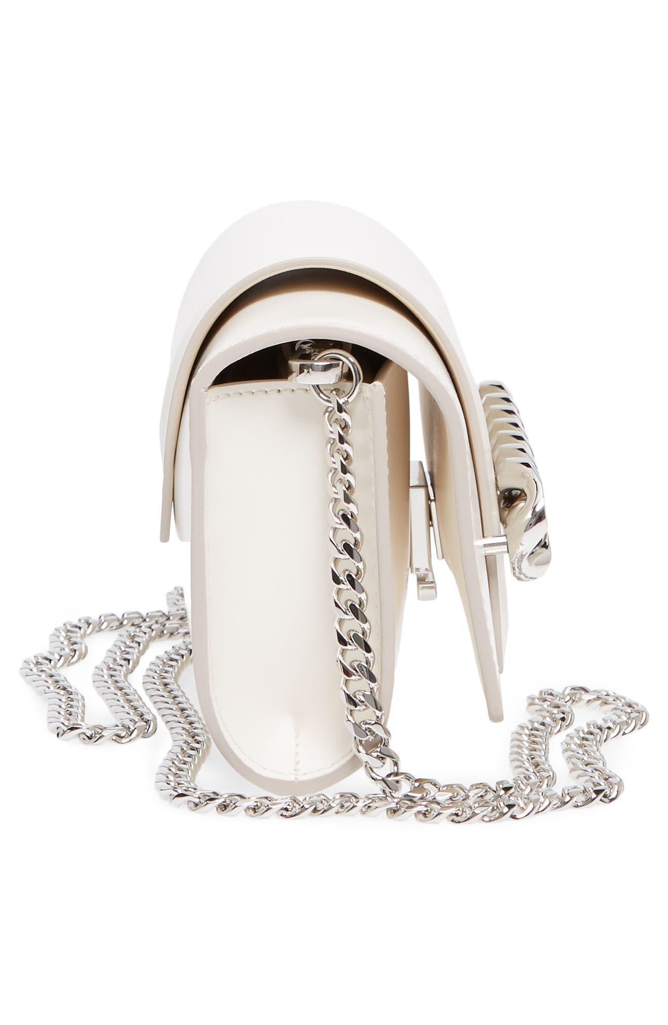 Mini Infinity Calfskin Leather Shoulder/Crossbody Bag,                             Alternate thumbnail 10, color,