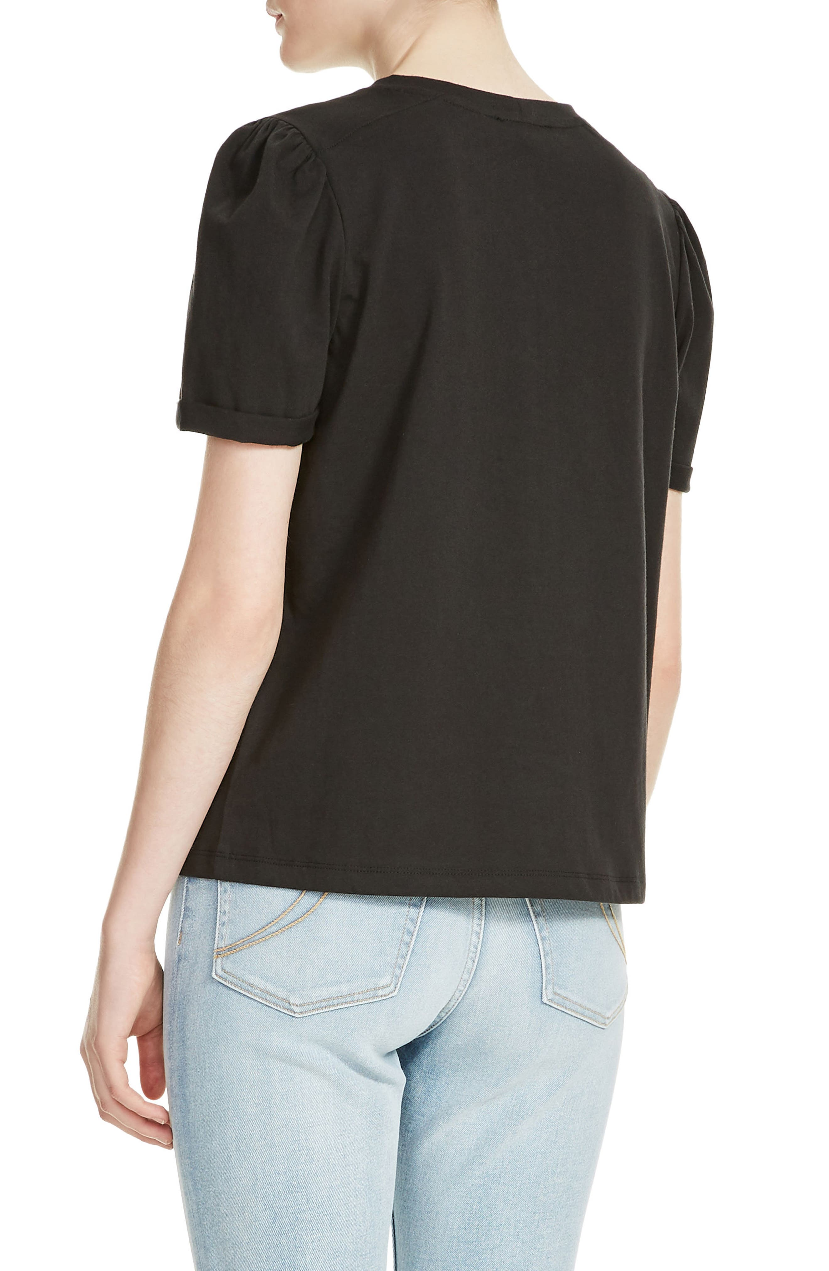 Tody Lace Detail Cotton Tee,                             Alternate thumbnail 2, color,
