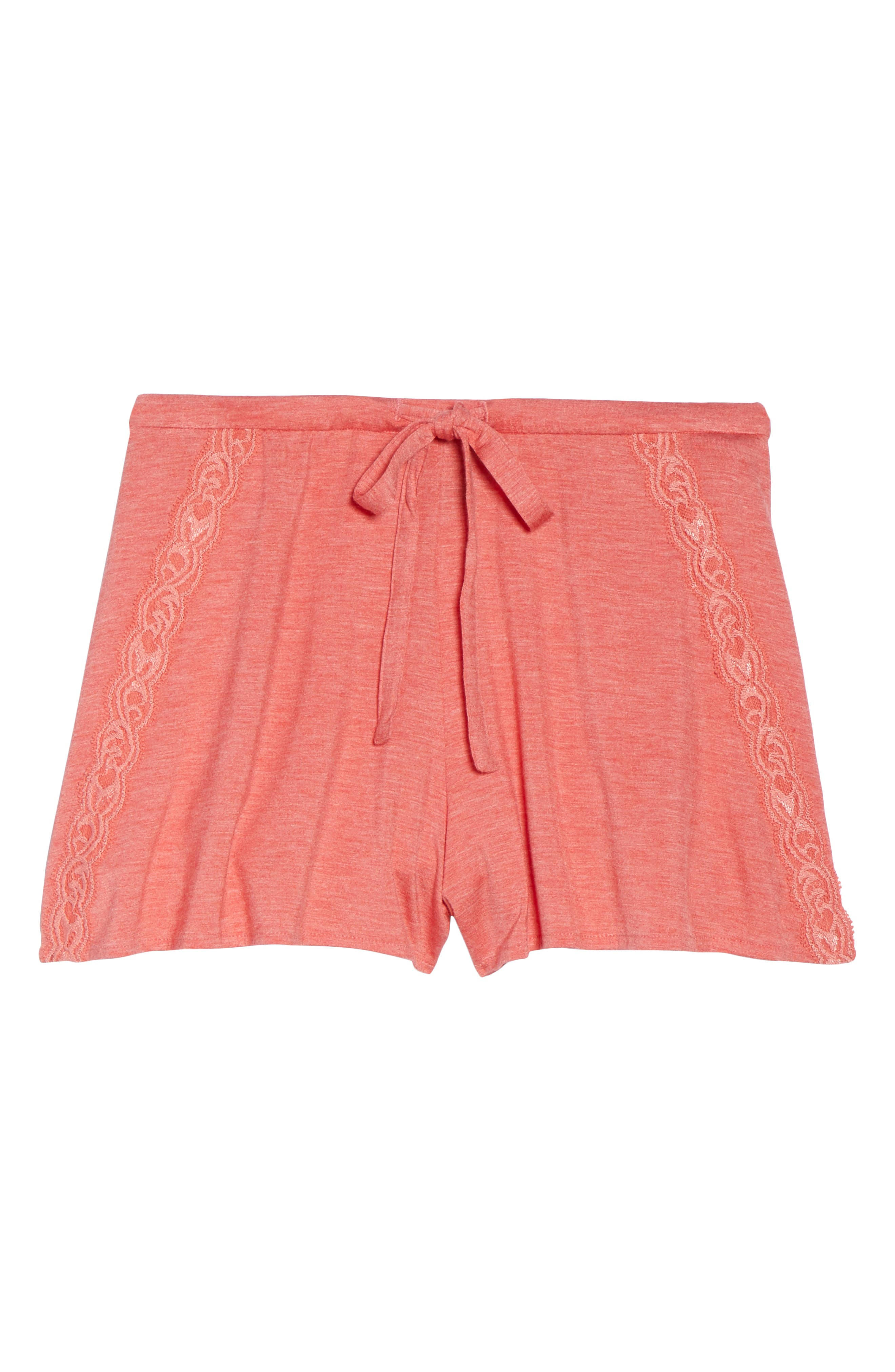 Feathers Essential Pajama Shorts,                             Alternate thumbnail 12, color,