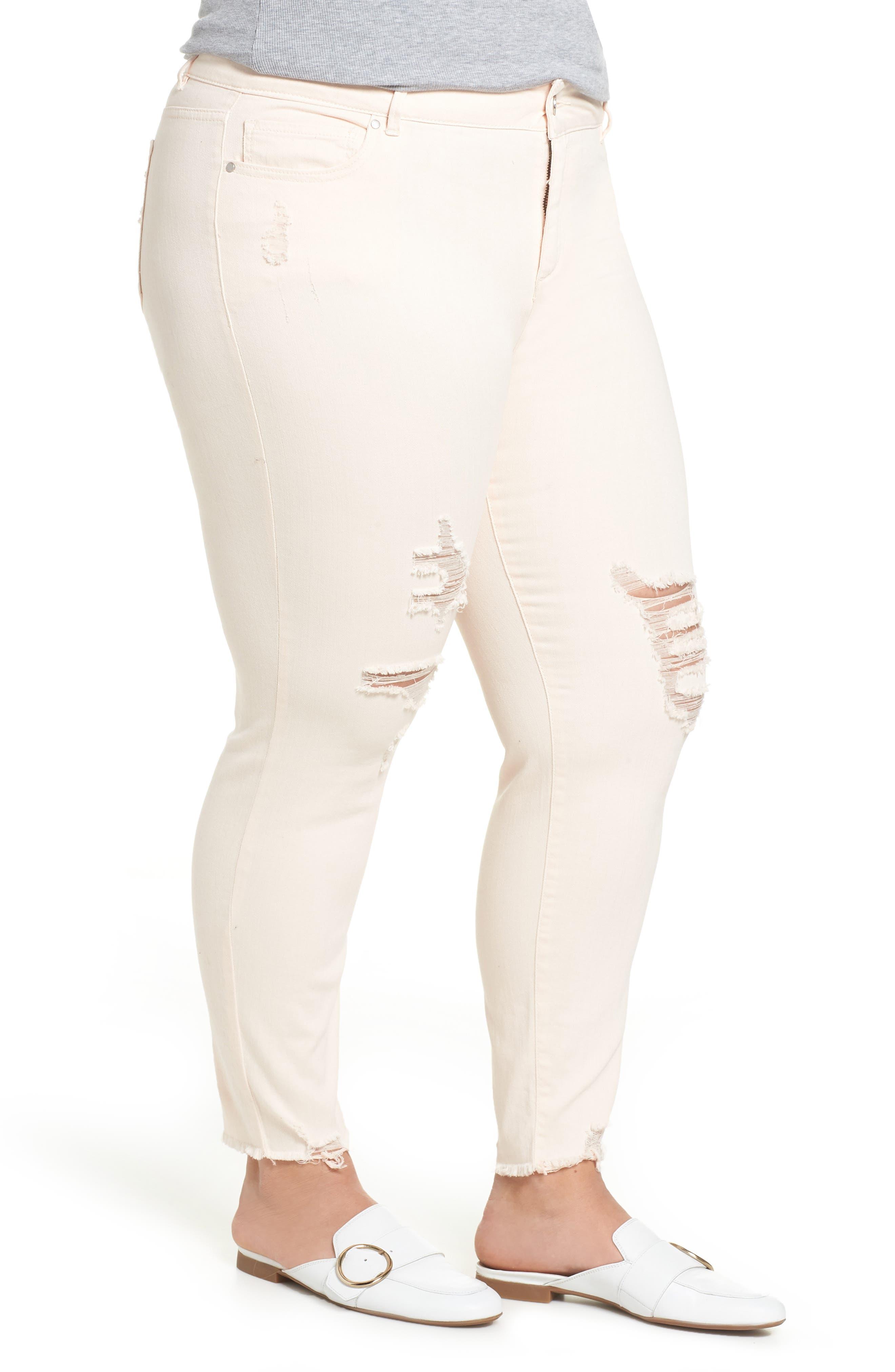 RACHEL RACHEL ROY,                             Icon Distressed Skinny Jeans,                             Alternate thumbnail 3, color,                             680