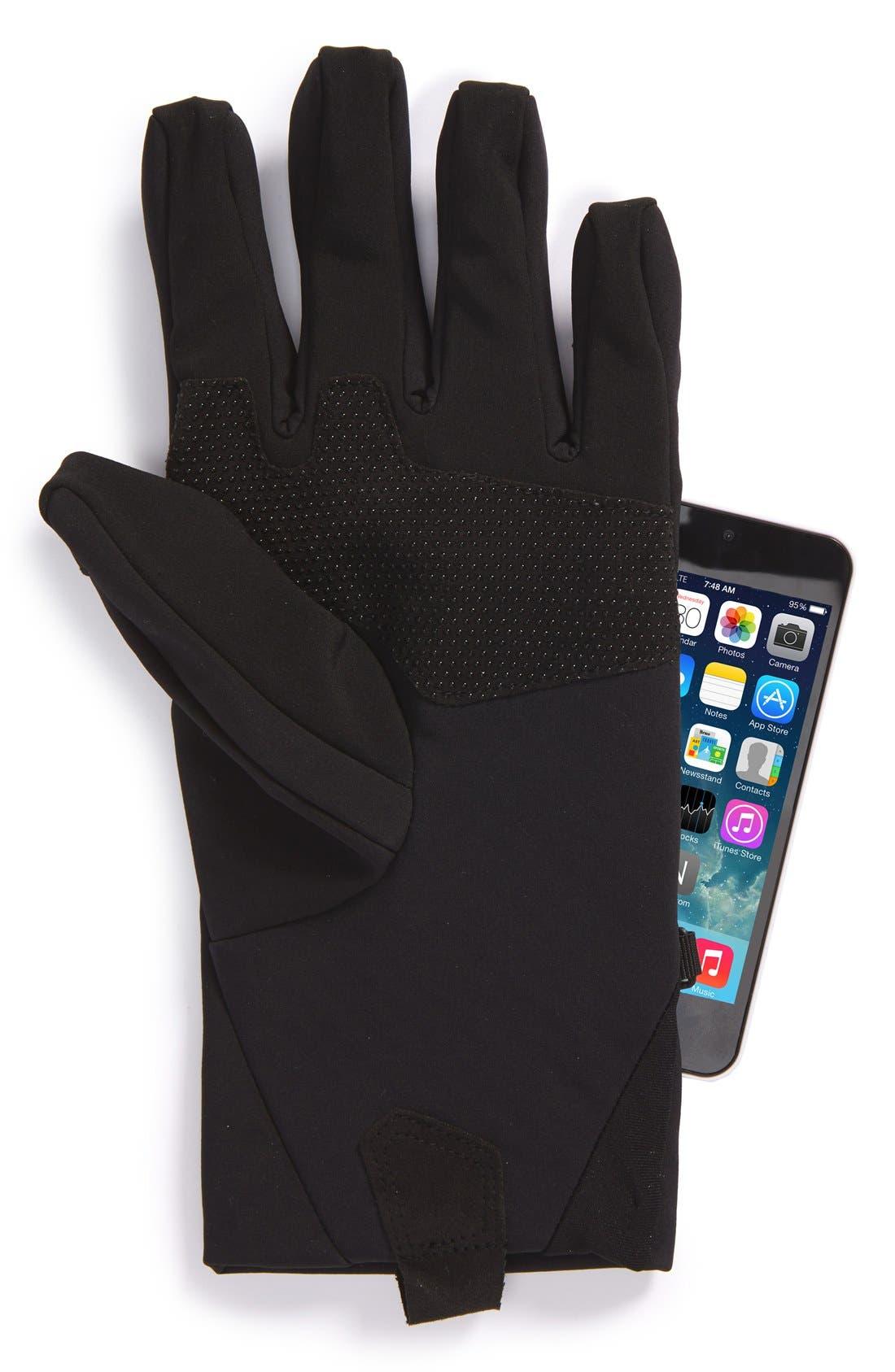 eTip Apex ClimateBlock Gloves,                             Alternate thumbnail 2, color,                             001