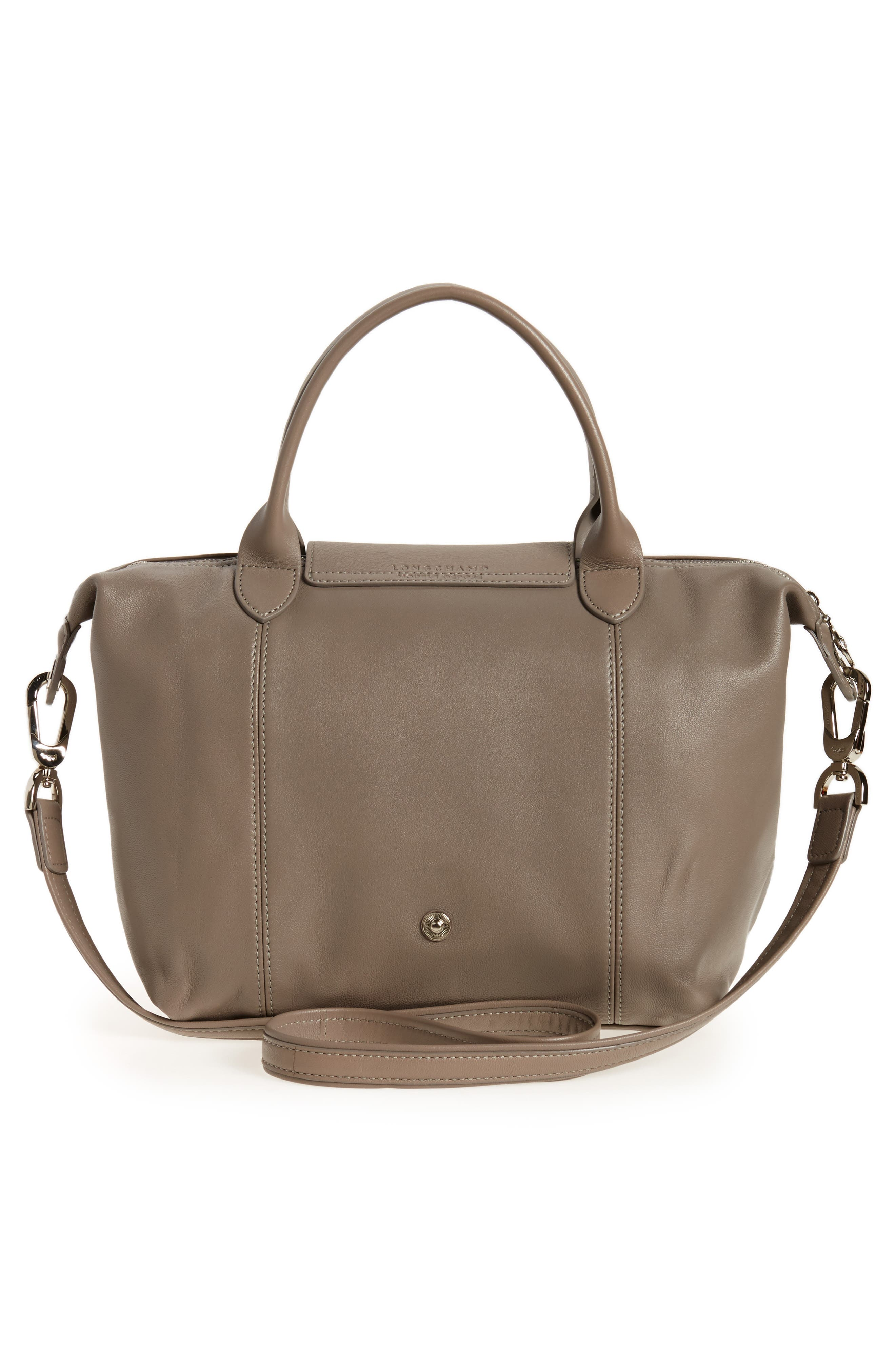 Small 'Le Pliage Cuir' Leather Top Handle Tote,                             Alternate thumbnail 43, color,