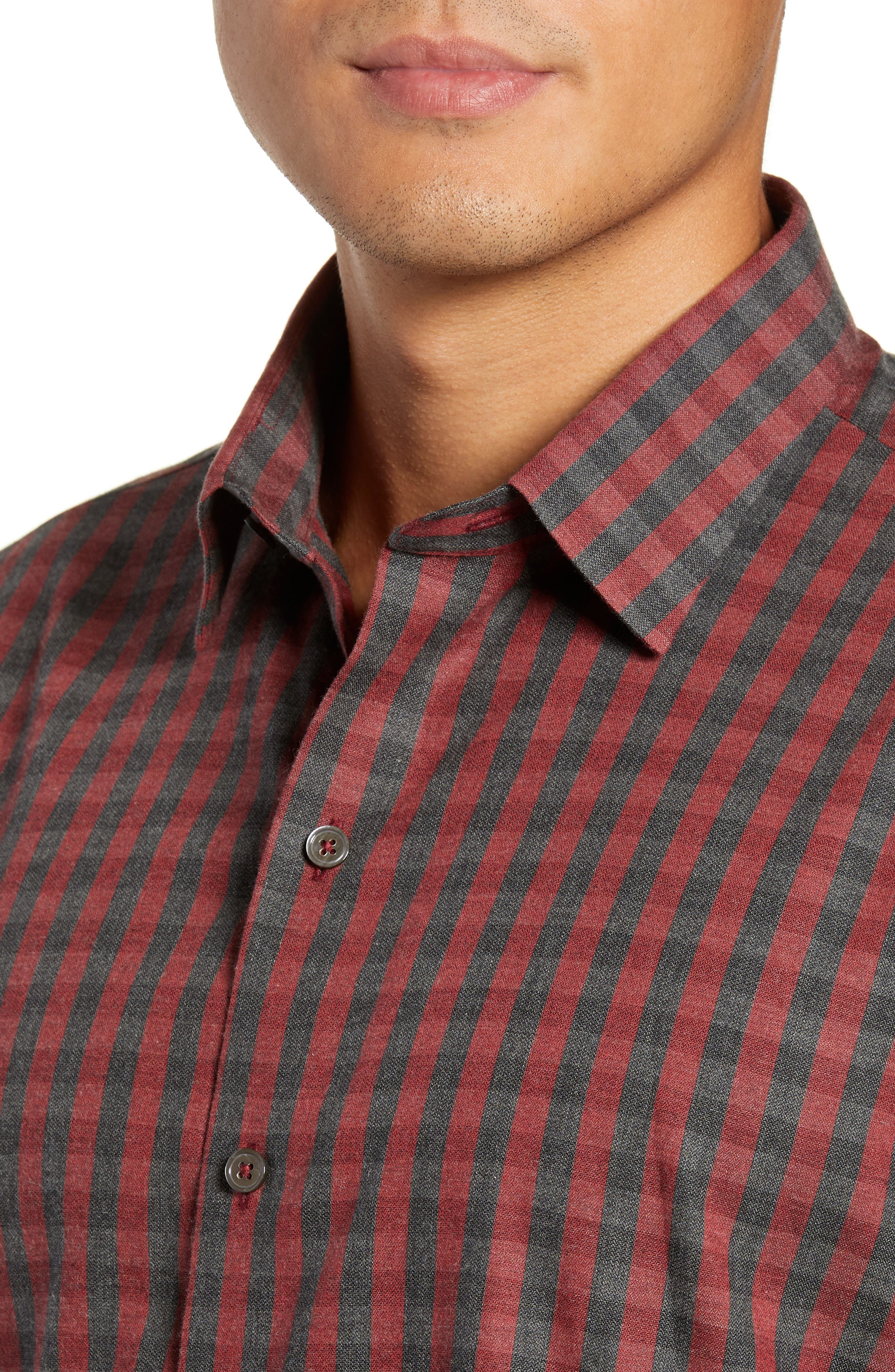 Lieberman Regular Fit Check Sport Shirt,                             Alternate thumbnail 2, color,                             RED