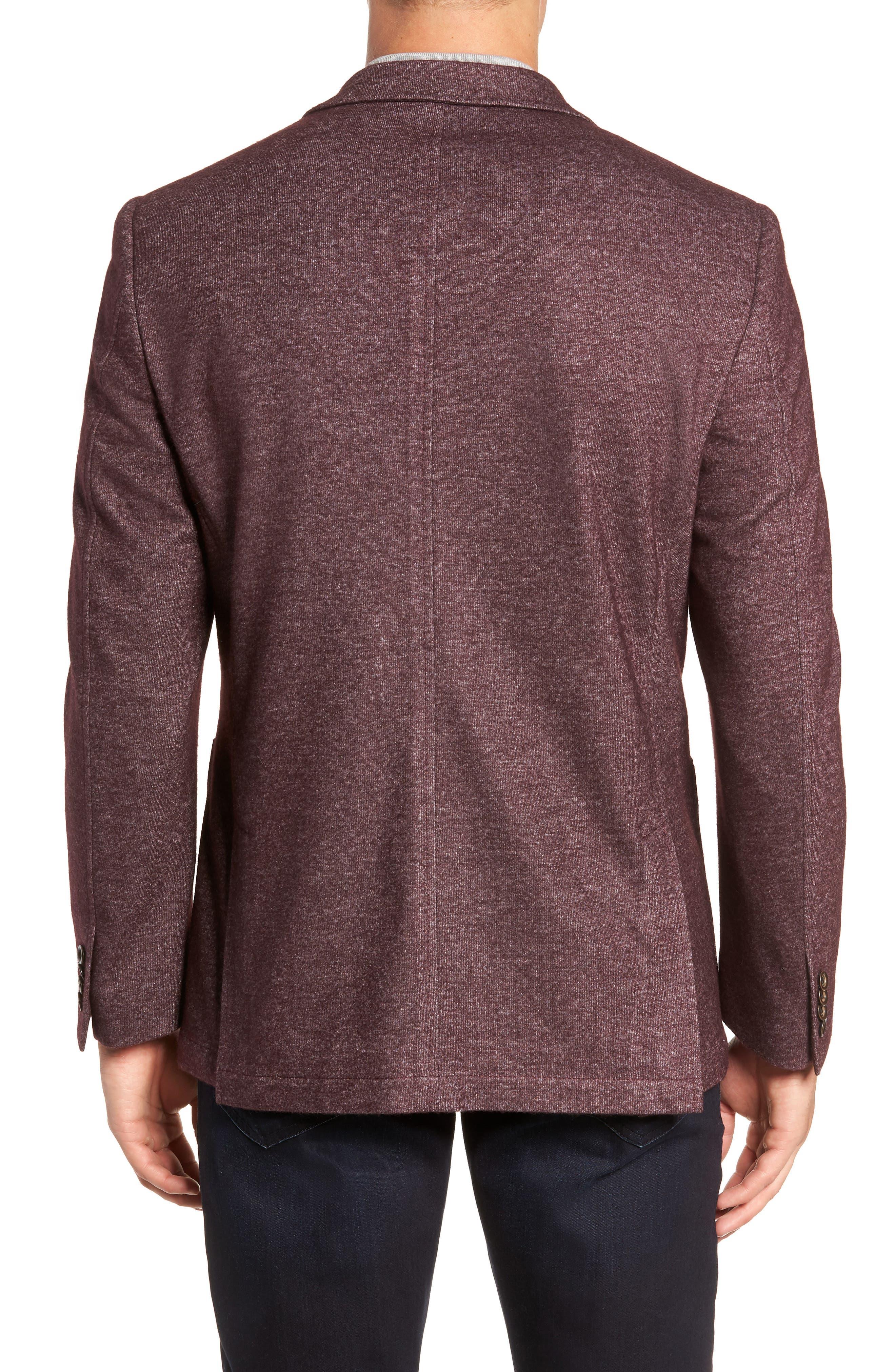Regular Fit Knit Wool Blend Sport Coat,                             Alternate thumbnail 2, color,                             PORT